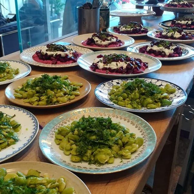 Levantine Table | Iraq  #broadbeans  #beetroot #courgette  #seasonal #knafeh  #comfortfood #nostalgia