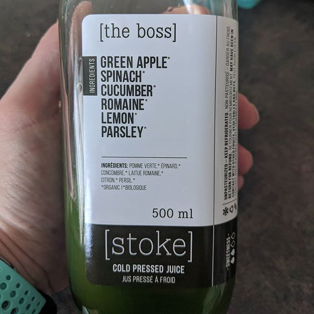 Because greens are LIFE! Aaaaaaaand some days I just can't be bothered to create my own green goodness 💚🥬 Thanks Stoke Juice! . . . #IgnitedHealth #greens #getyourgreens #stokejuice #yum #postrun #unbreakablerunner #damagecontrol #maxeffort #goodtimes #shoplocal #getinmybelly