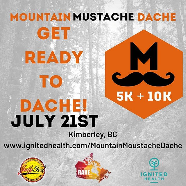 Are you ready to Dache?? 🏃 Julyfest 5k & 10k trail run 🏃 Family friendly 12 years old & up 🏃 Sunday Morning July 21st 🏃 Prizes!! And NOT the same old categories 😁😎 🏃 Aid station & FOOD! 🏃 Will run for beer 🏃Get registered today 😁 . . . #julyfest #kimberleybc #kimberleytourism #trailrunning #outrunrare #outrunner #fundraiser #getfesty #julyfest2019 #tourismbc #travelbc #agoodplacetobe #IgnitedHealth #willrunforbeer #community #running #getoutside #5krun #10krun #loiscreektrails