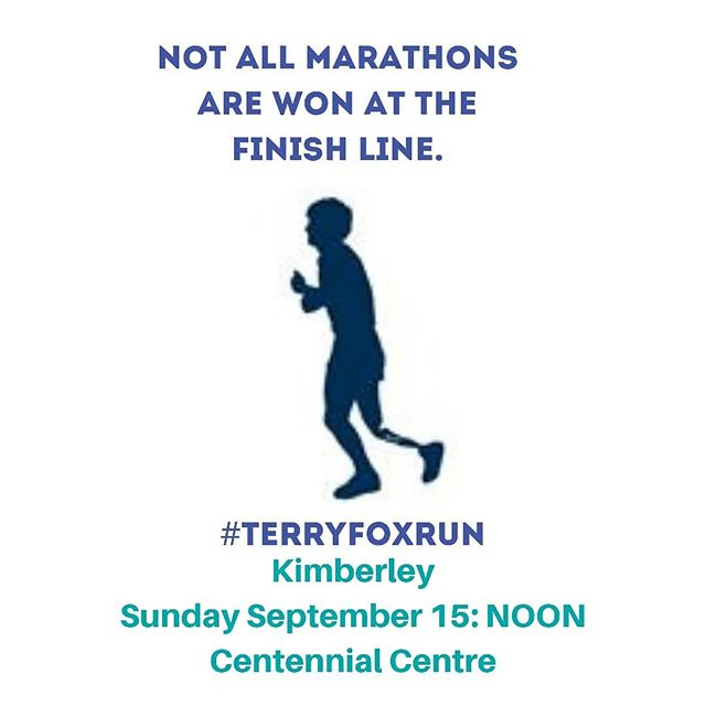 It's THAT time of year...#terryfoxrun time 💜🏃‍♀️...I LOVE this event for Soooo many reasons! Terry Fox truly is a Canadian Hero! . . . Join us this Sunday Sept 15 for 5 or 10k of walking, rolling or running to raise funds for the Terry Fox Foundation! . . NOON, Centennial Centre! . . . . #terryfox #becauseican #runwalkorroll #community #runner #cancerresearch #39years #agoidplacetobe #kimberleybc #septenber #running #walk #fundraise #terryfoxfoundation