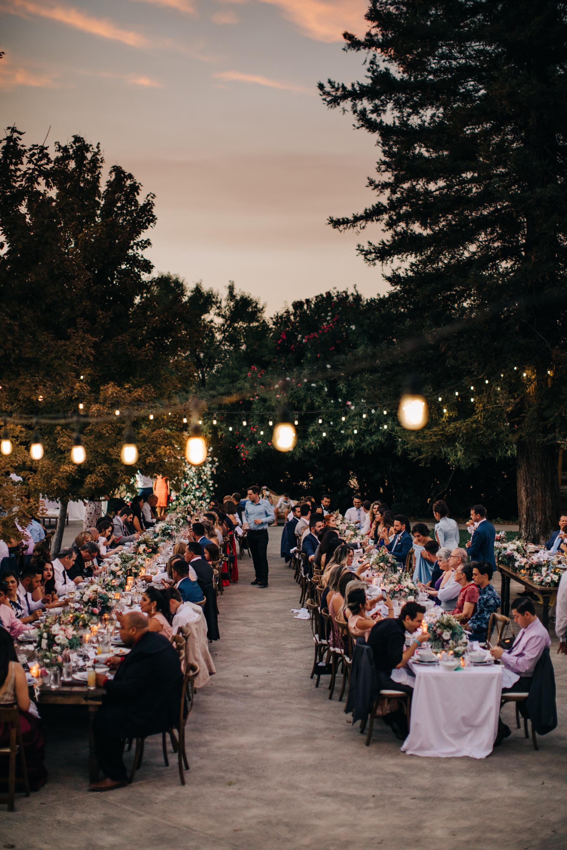 Outdoor Wedding Reception September | Wedding Market Lights