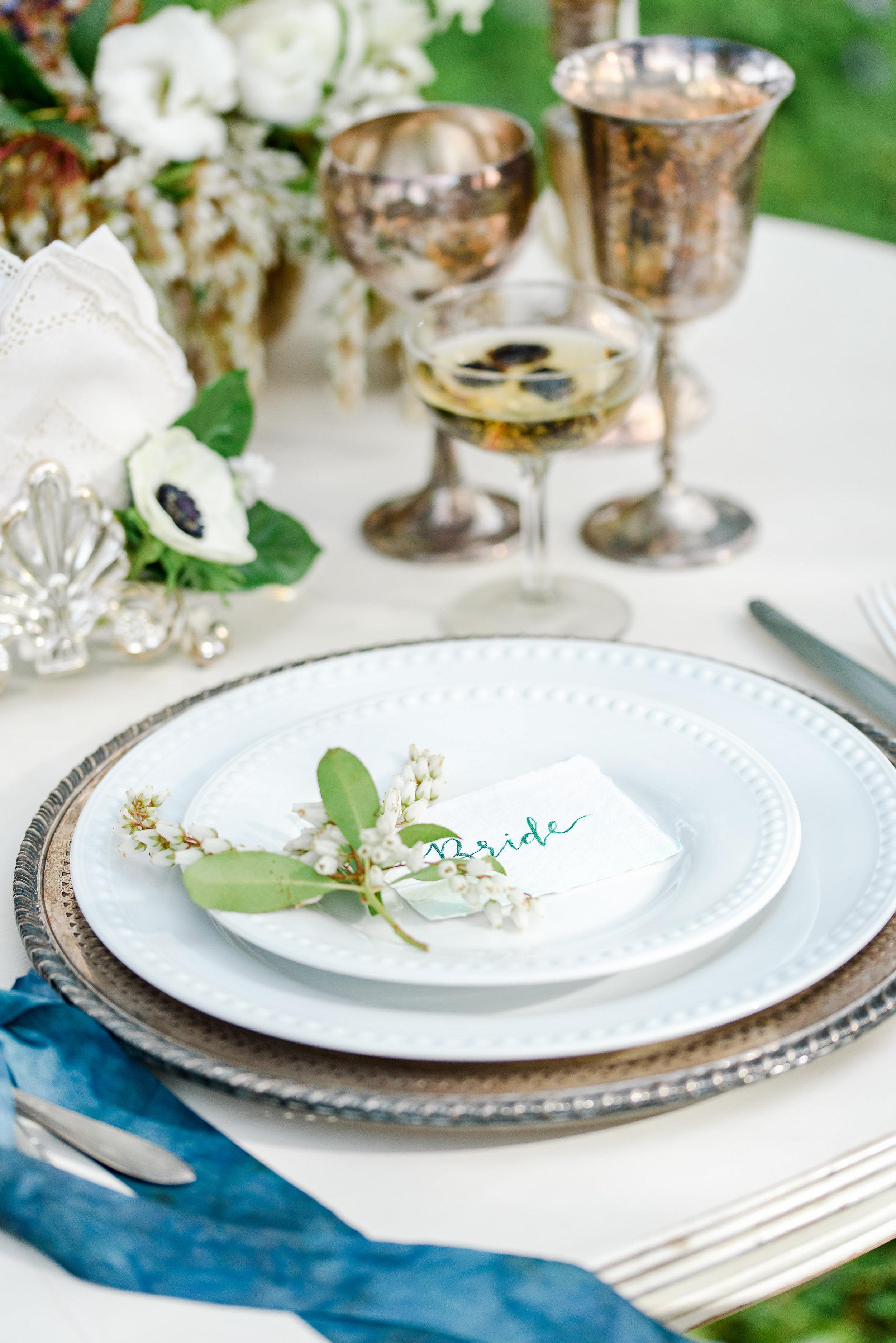 Wedding Table Setting | Vintage Wedding Table | Silk Ribbon
