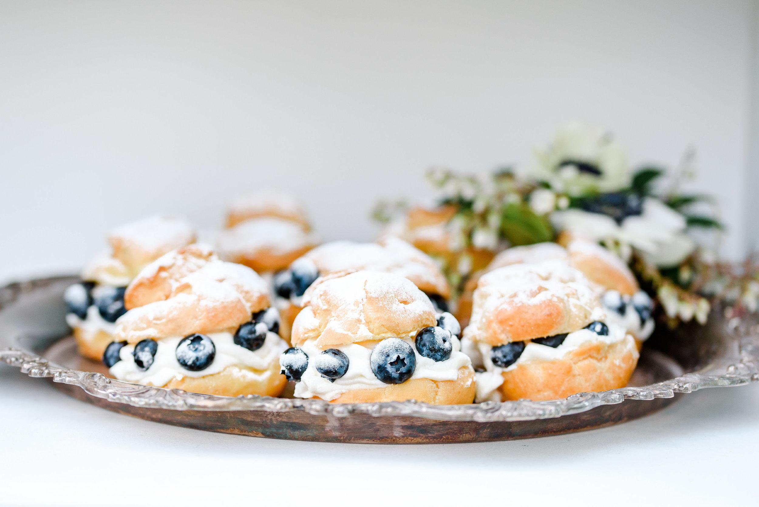 Blueberry Cream Puff | Wedding Dessert | Blue Dessert