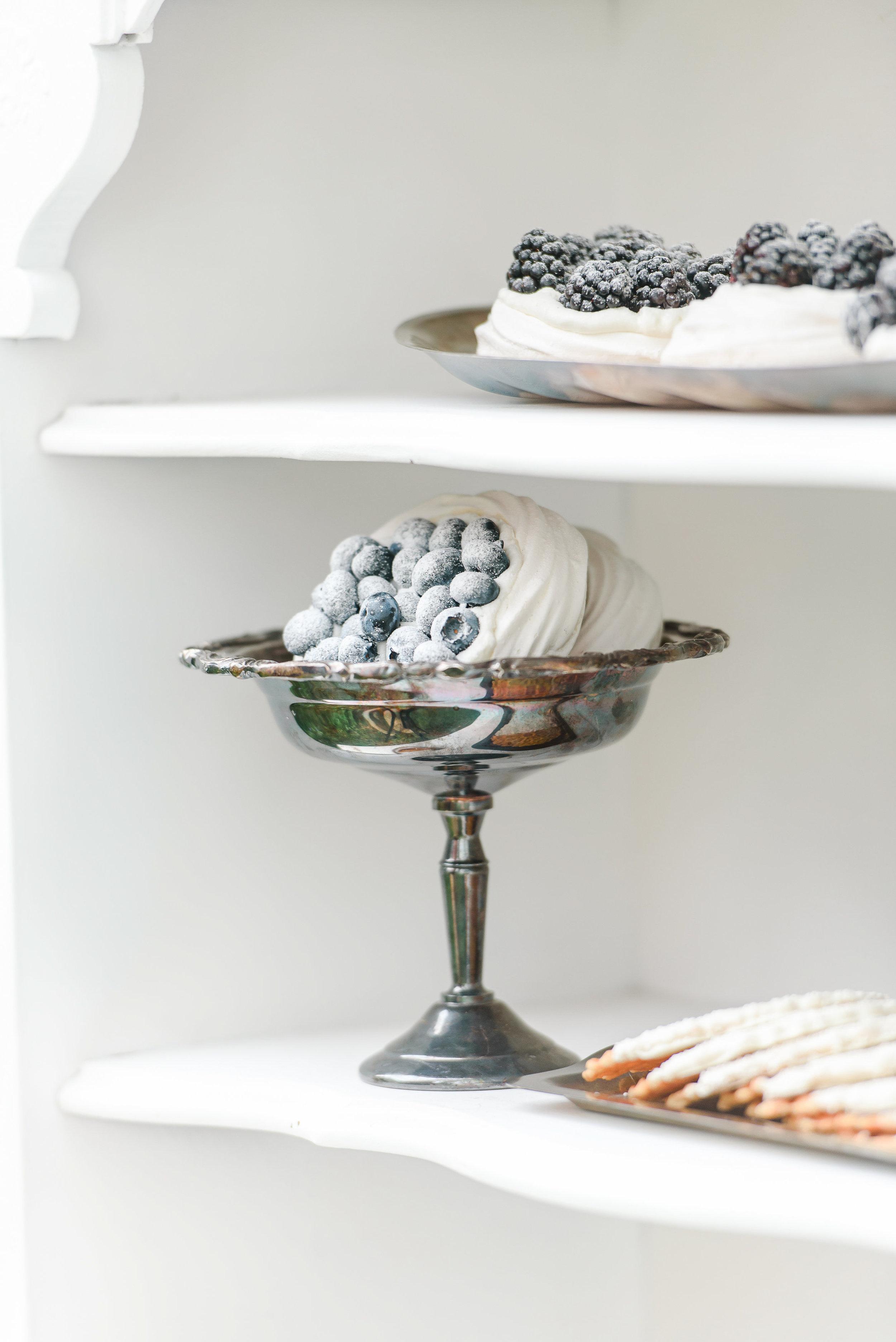 Wedding Dessert Bar | Blueberry Pavlova | Blueberry Desserts