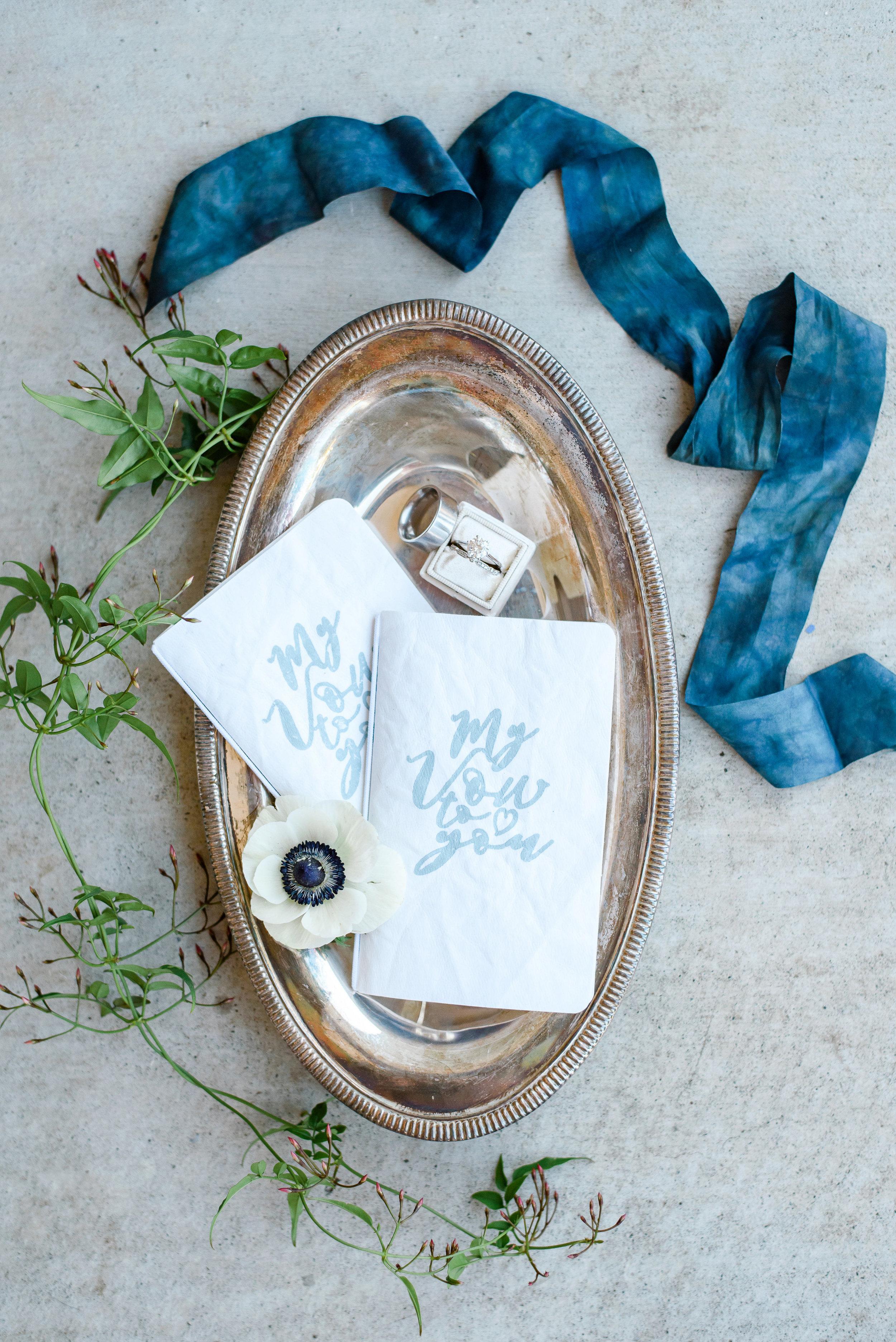 Wedding Band Photo | Wedding Flat Lay | Silk Ribbon