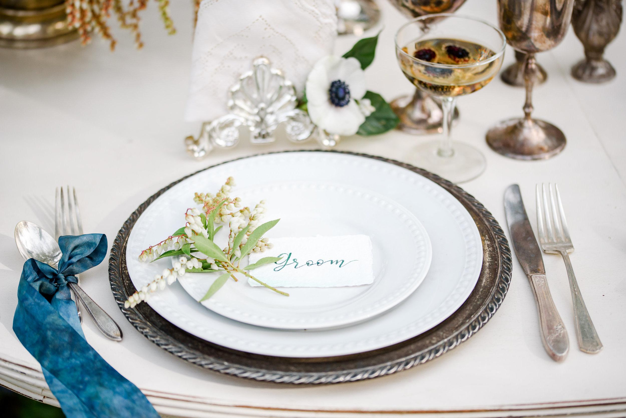 Vintage Wedding Table Setting | Vintage Silverware