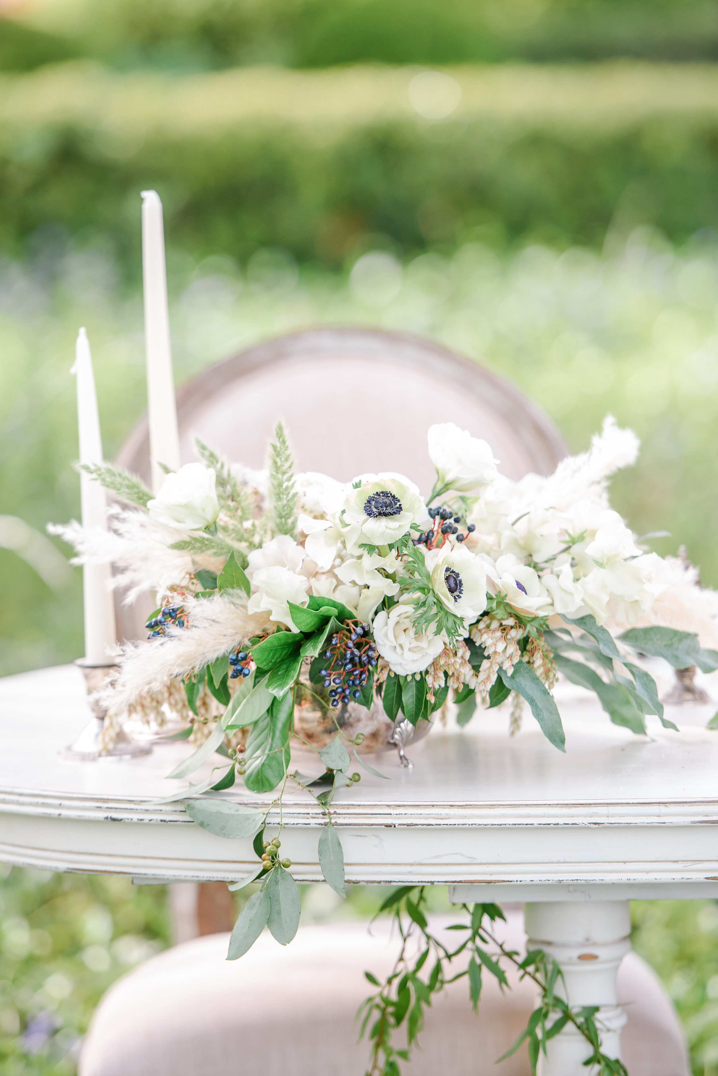 Neutral Wedding Flowers | Unique Wedding Florals | Pampas Grass