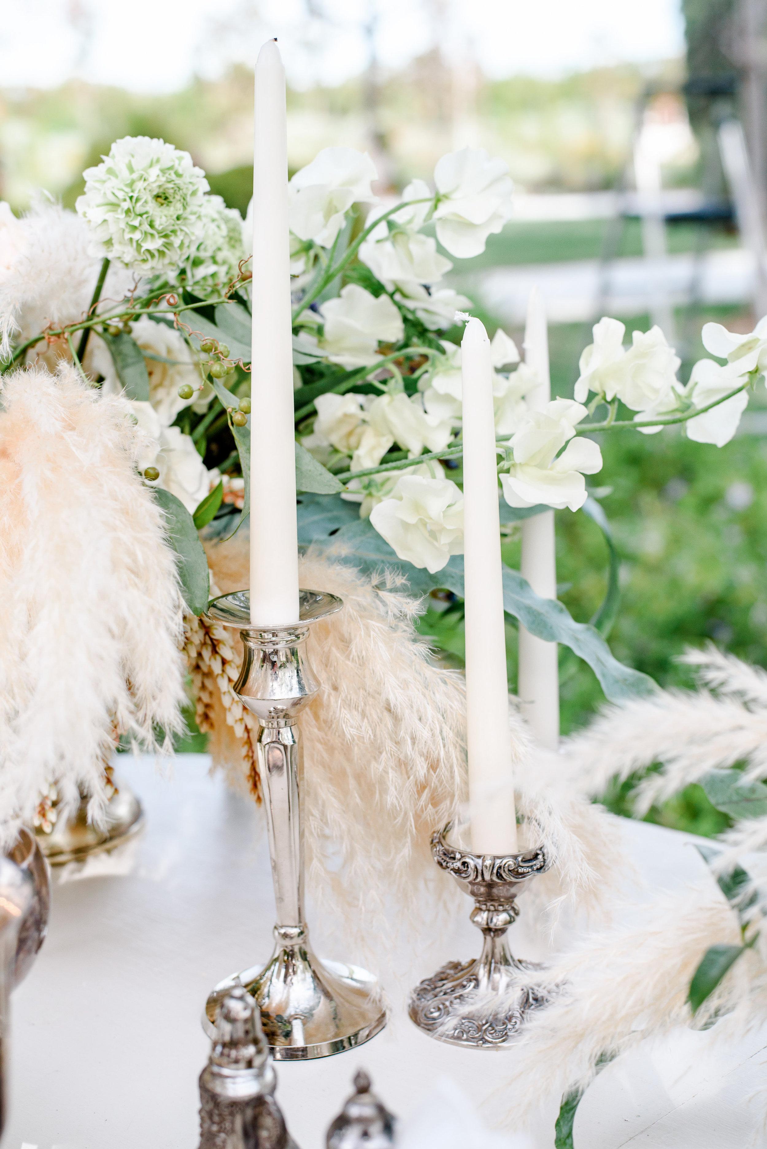 Vintage Candlesticks | Vintage Wedding Decor