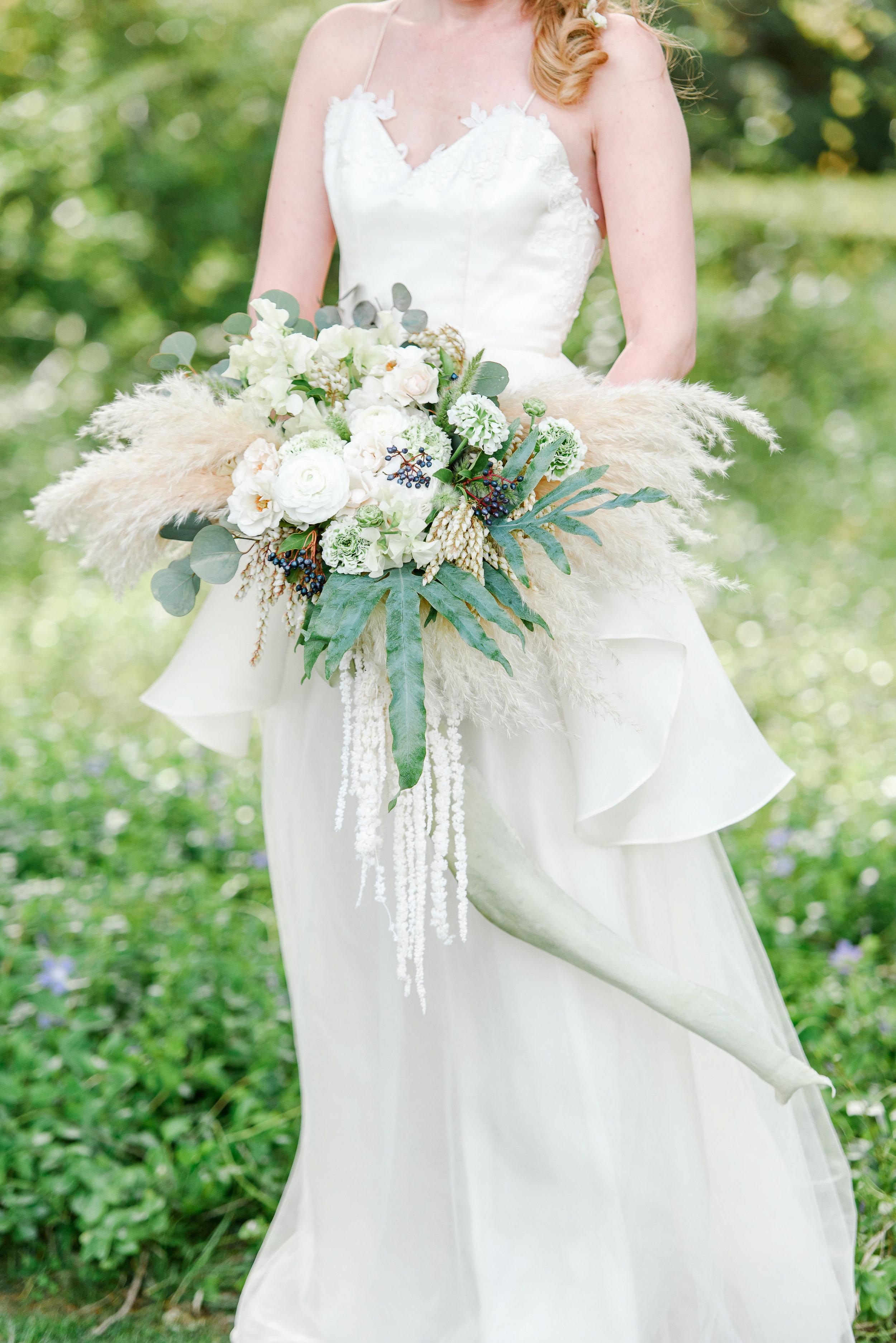Unique Bridal Bouquet | Neutral Bridal Bouquet | Pampas Grass | Wedding Flowers