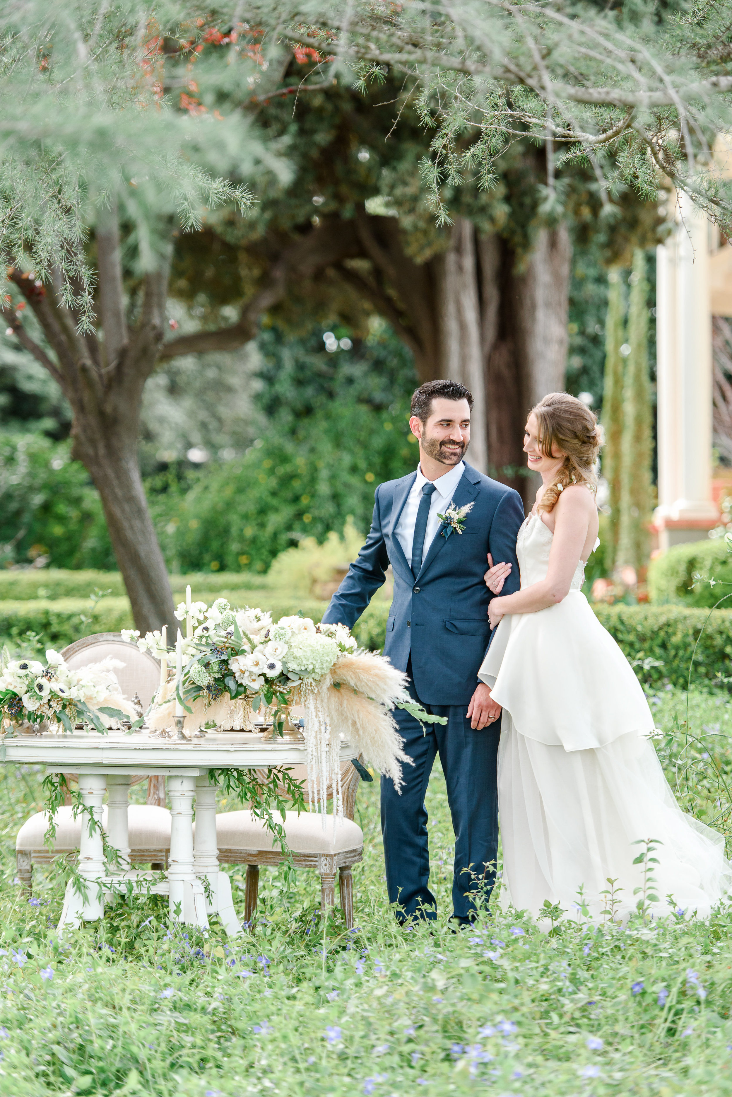 Garden Wedding Inspiration | Wedding Sweetheart Table