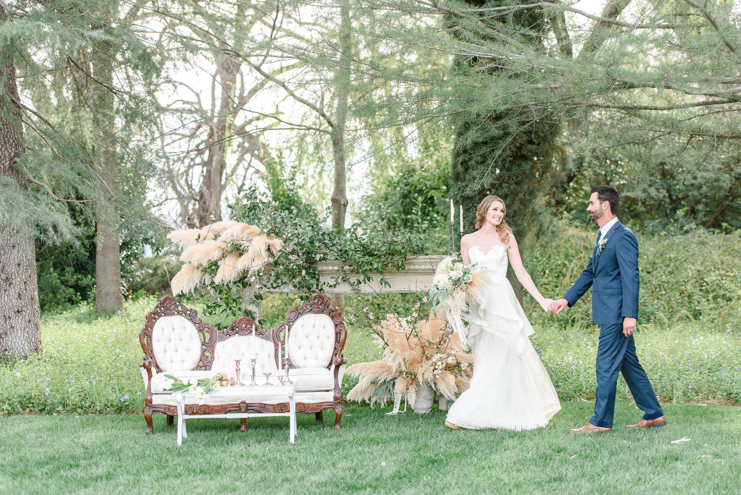Garden Wedding Inspiration | Wedding Lounge Seating