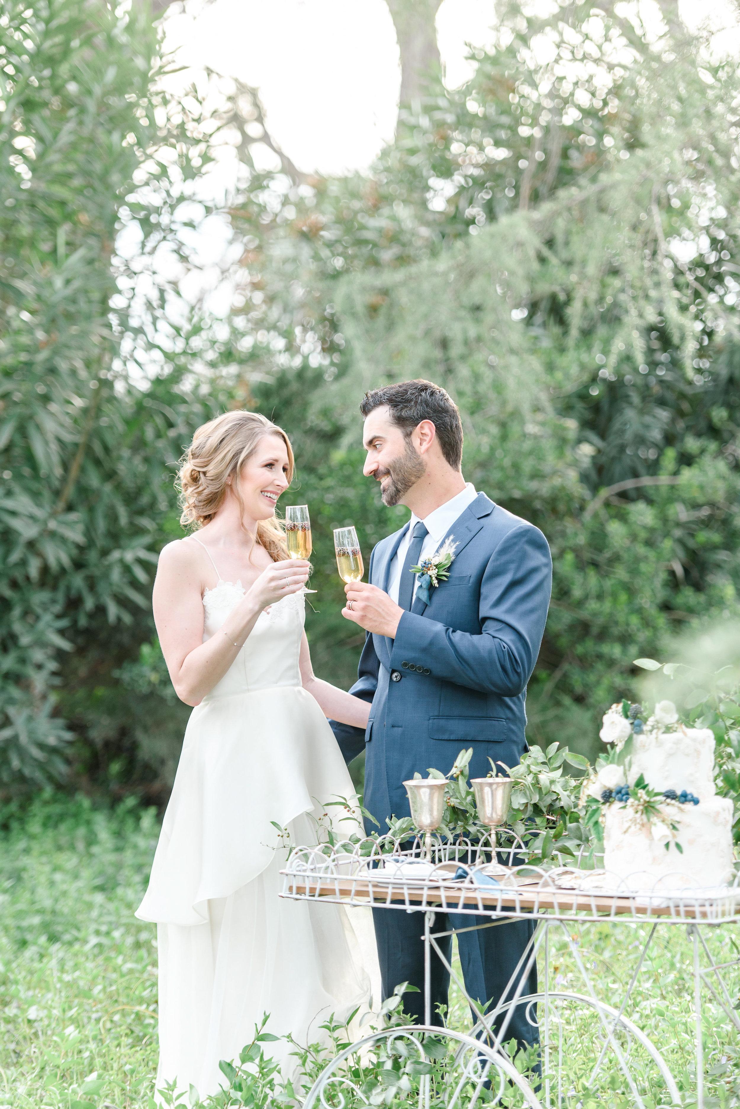 Cake Cutting Photo | Garden Wedding Inspiration