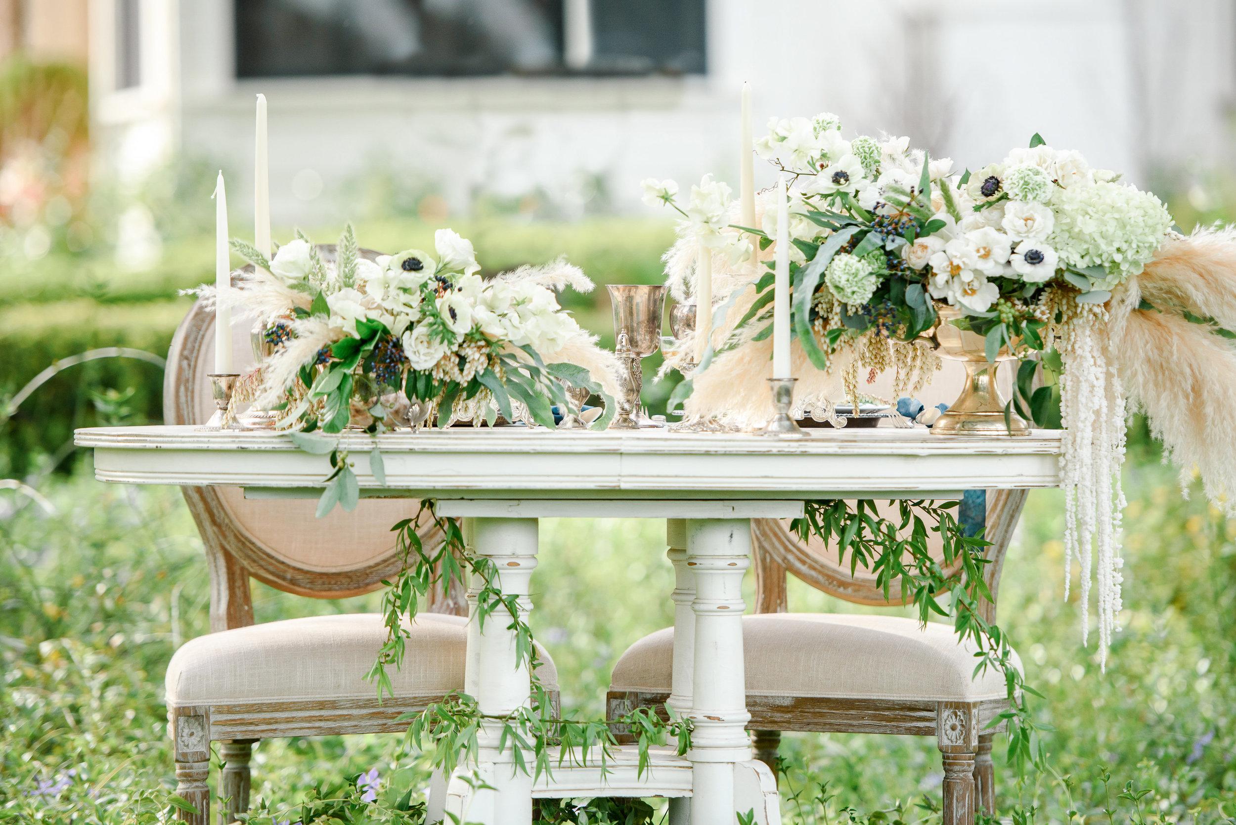 Garden Wedding Sweetheart Table