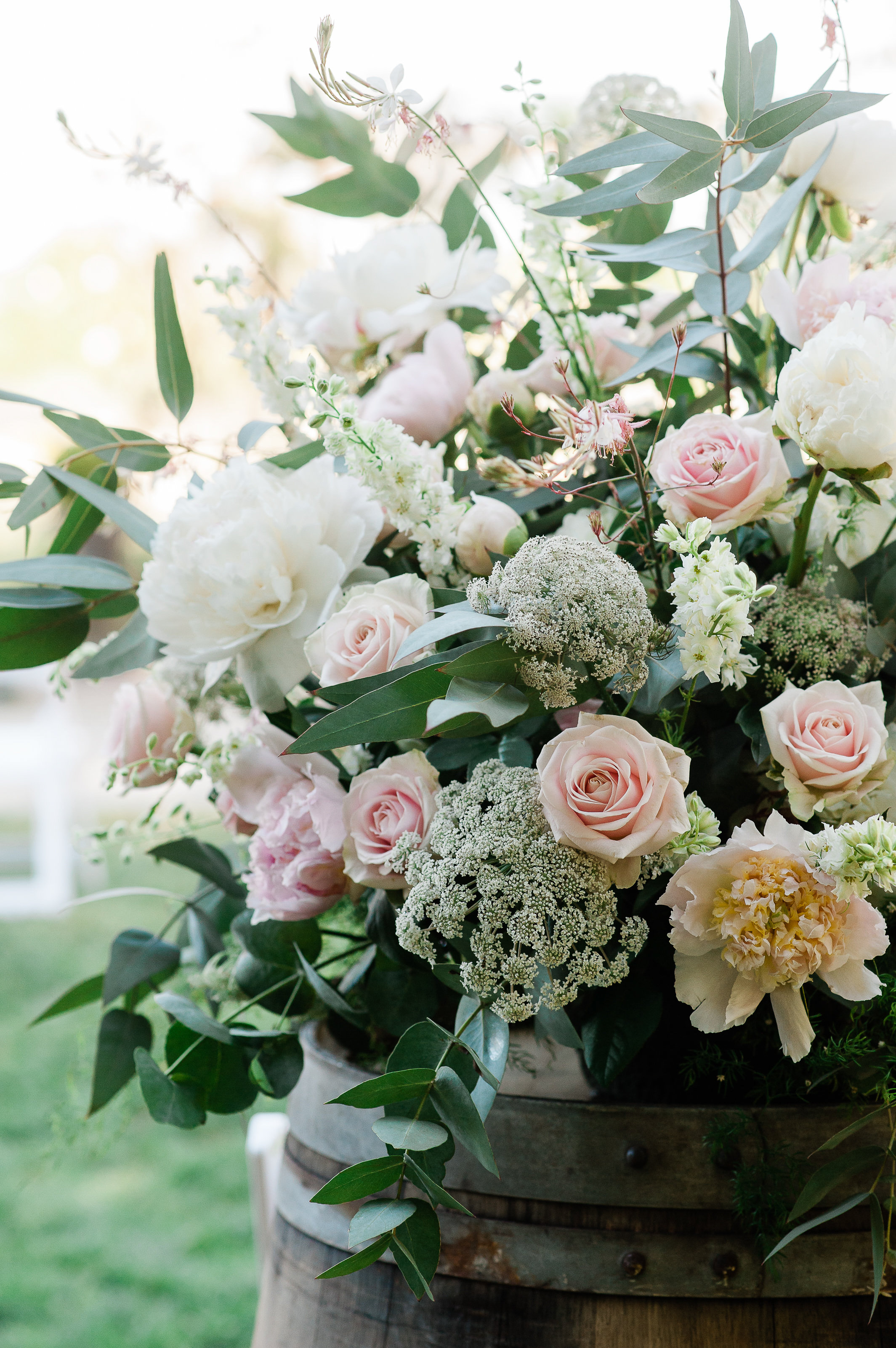 Park Winters Summer Wedding | Wedding Ceremony Flowers | Wedding Flower Arrangements | Pastel Wedding Flowers
