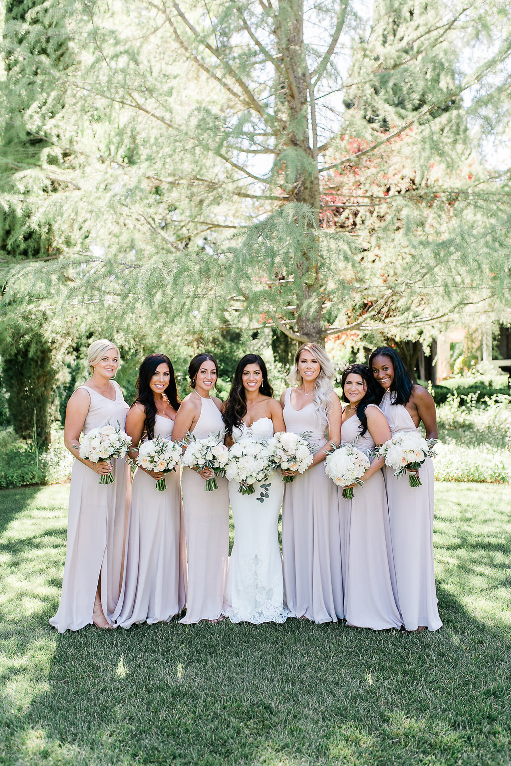 Park Winters Summer Wedding | Bridesmaids | Nude Bridesmaids Dress
