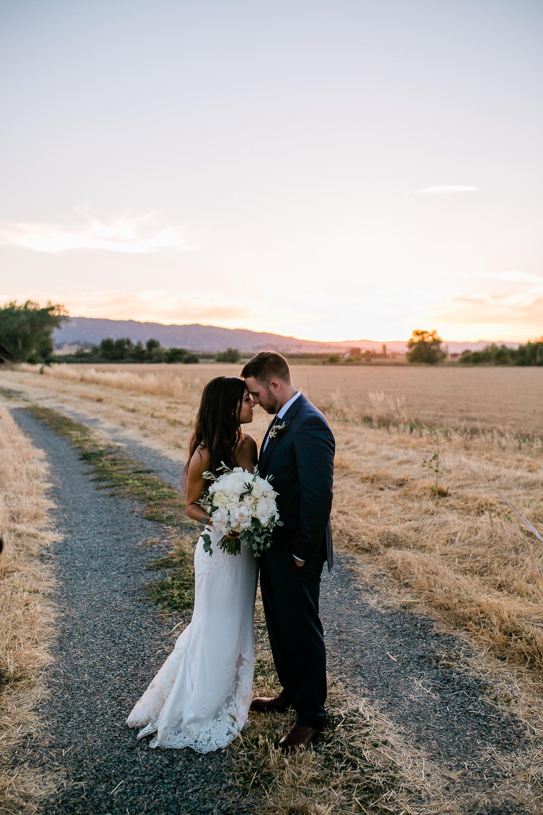 Park Winters Summer Wedding | Country Wedding | Farm Wedding | Bride and Groom Portrait