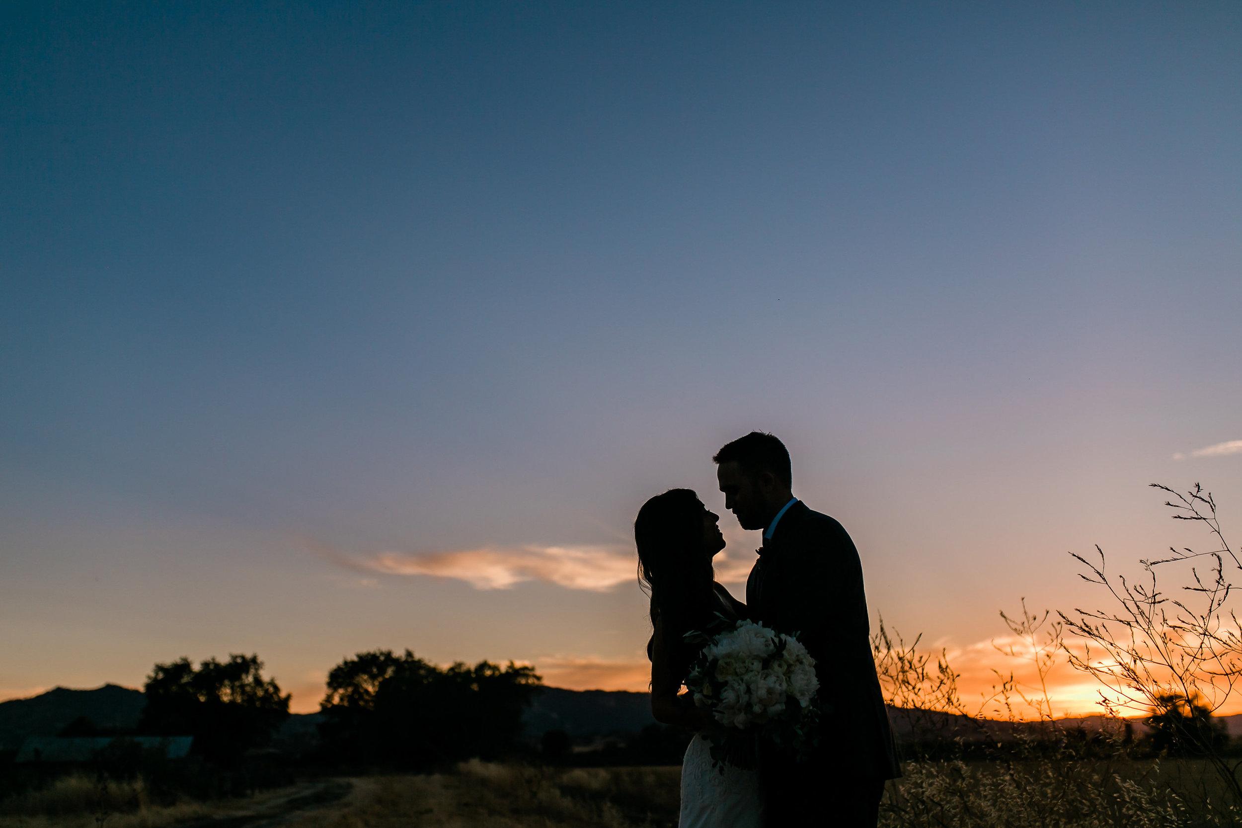 Park Winters Summer Wedding | Country Wedding | Farm Wedding | Bride and Groom Portrait | Sunset Photos