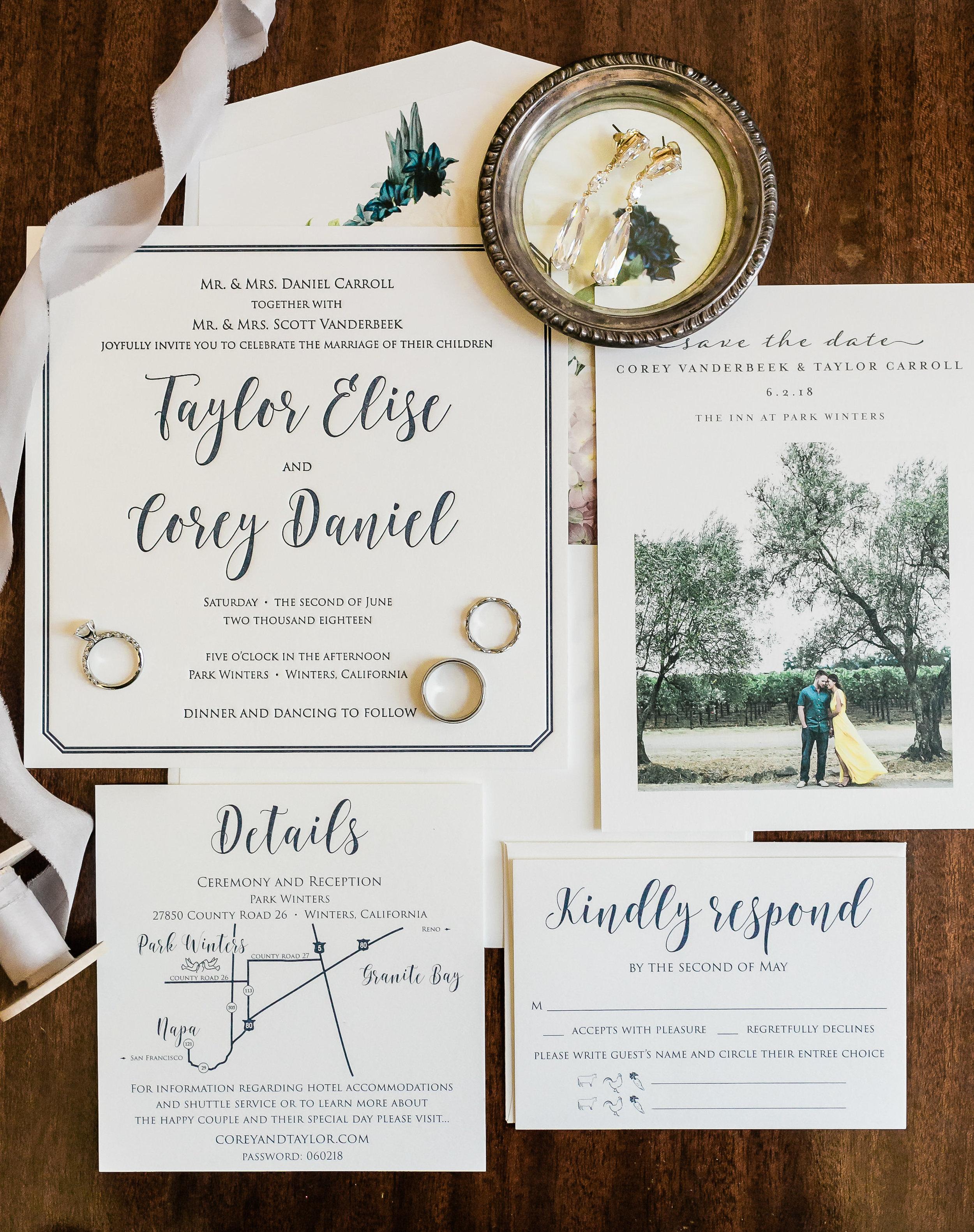 Park Winters Wedding | Wedding Invitation Suite