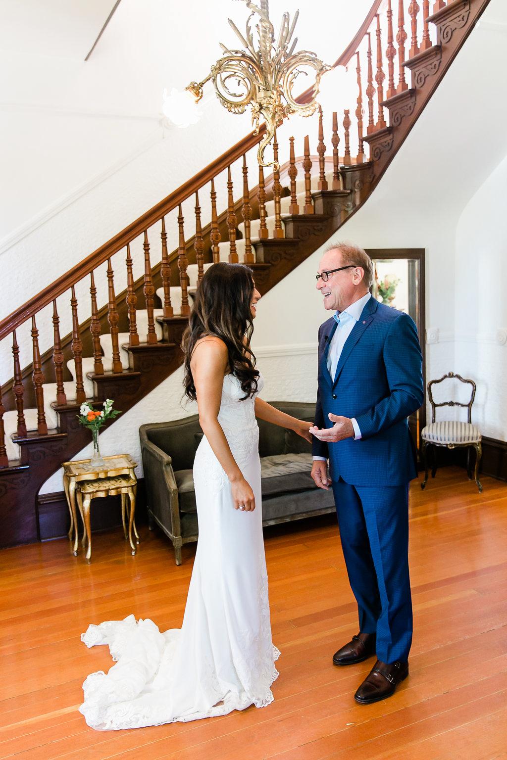 Park Winters Wedding | Dad First Look