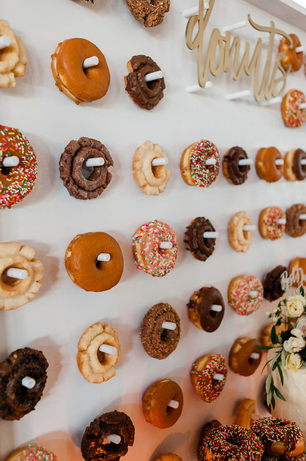Park Winters Summer Wedding | Wedding Dessert | Wedding Donuts | Donut Wall | Unique Wedding Dessert Ideas