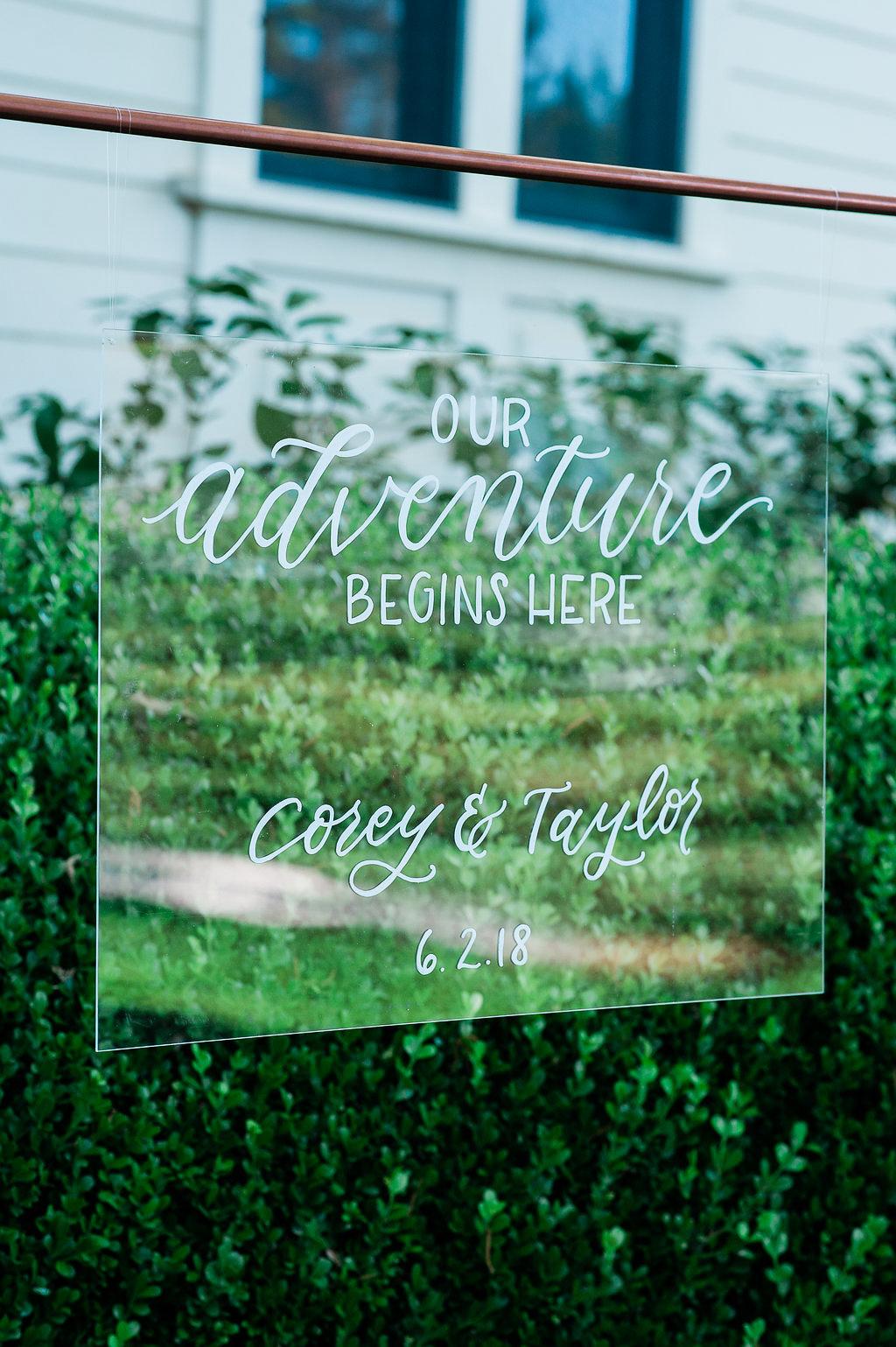 Park Winters Summer Wedding | Wedding Signage | Wedding Calligraphy