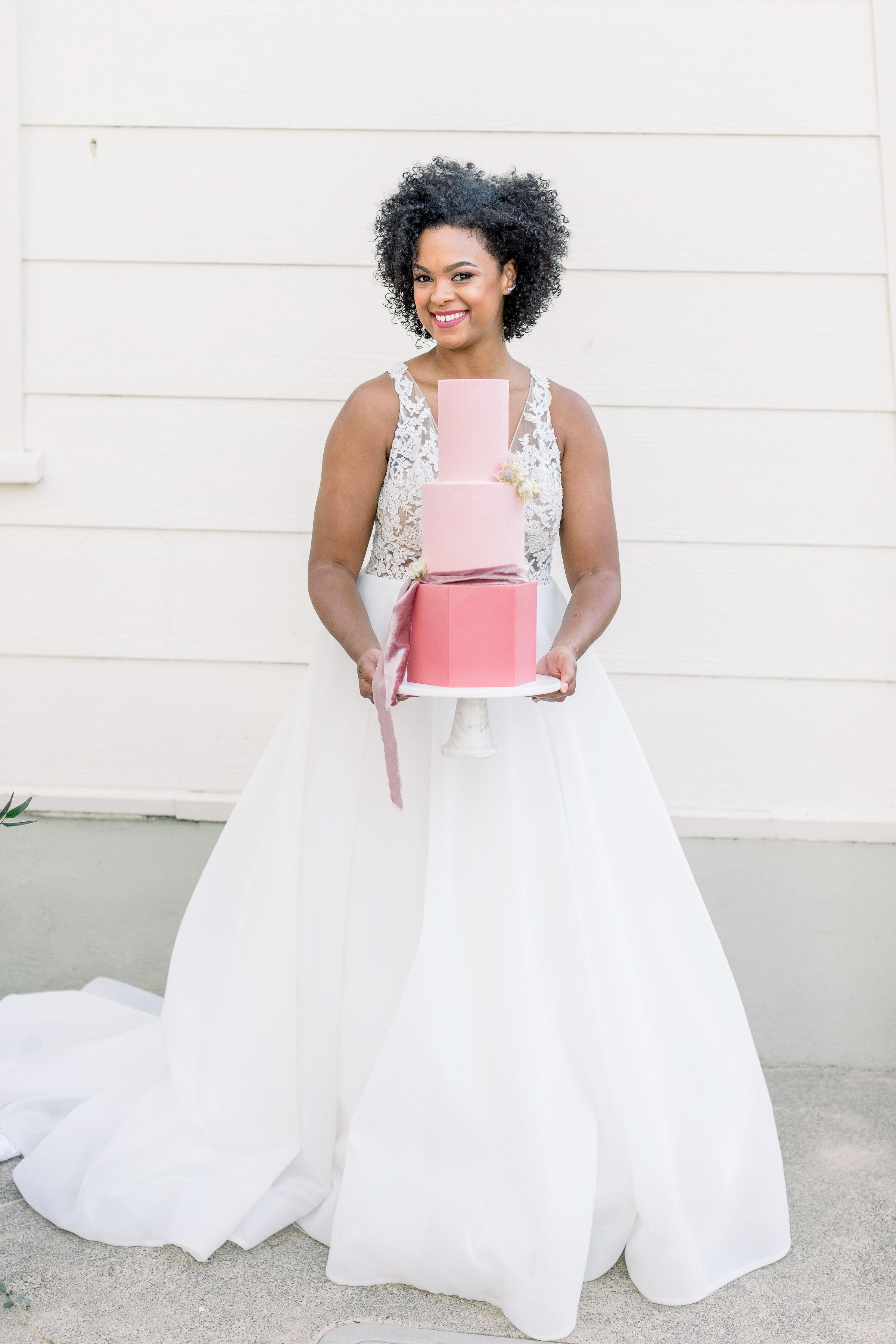 Pink Wedding | Feminine Wedding | Spring Wedding | Pink Wedding Flowers | Wedding Cake | Pink Wedding Cake | Fondant Wedding Cake | Pink Layer Cake | Unique Wedding Cake