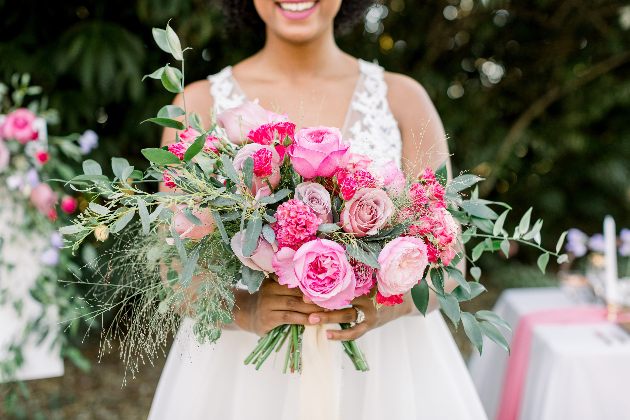 Pink Wedding | Feminine Wedding | Spring Wedding | Wedding Table Decor | Pink Wedding Flowers | Bridal Bouquet
