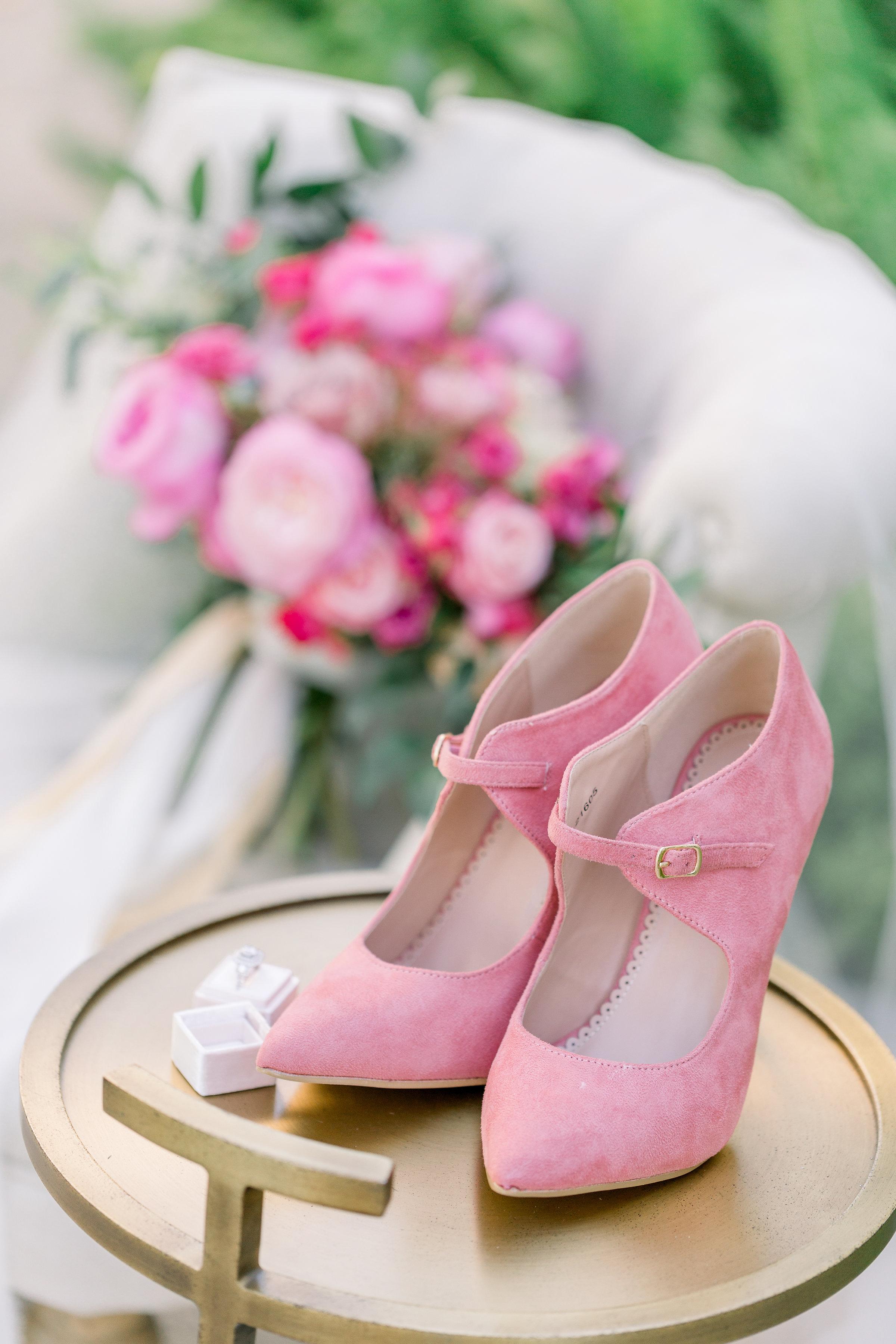 Pink Wedding | Feminine Wedding | Spring Wedding | Pink Wedding Shoes
