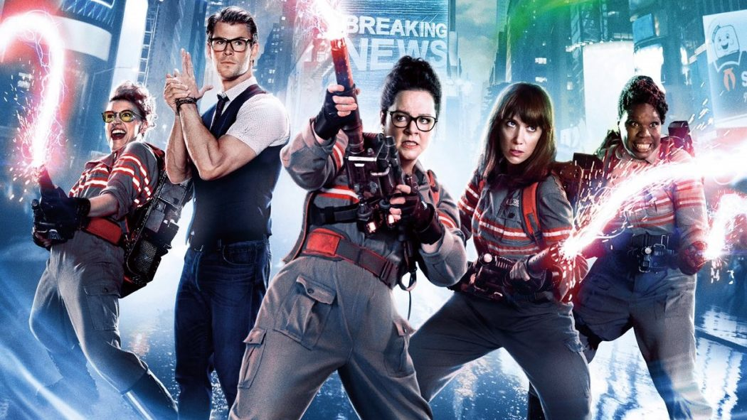 Who ya gonna dismiss sight-unseen as a talentless attack on your childhood in a thinly veiled attempt to pretend you're secure in your masculinity while you openly practice hostile misogyny and outright hate speech on the Internet?  Ghostbusters!