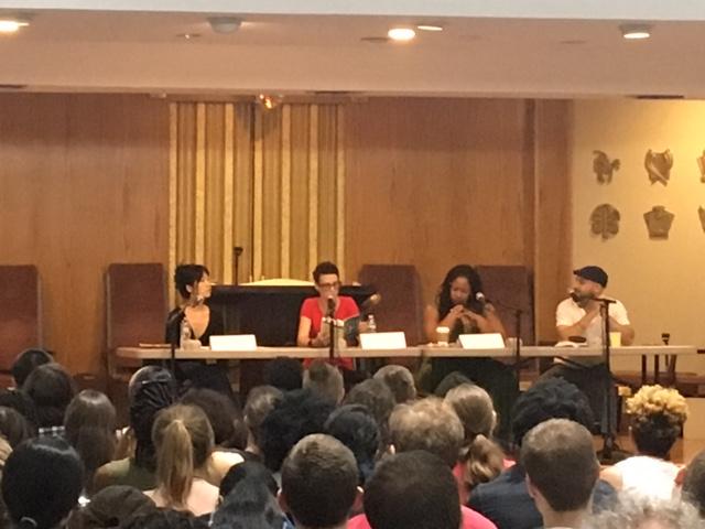 From left: Alice Sola Kim, Fiona Maazel, N.K. Jemisin, and Daniel José Older.