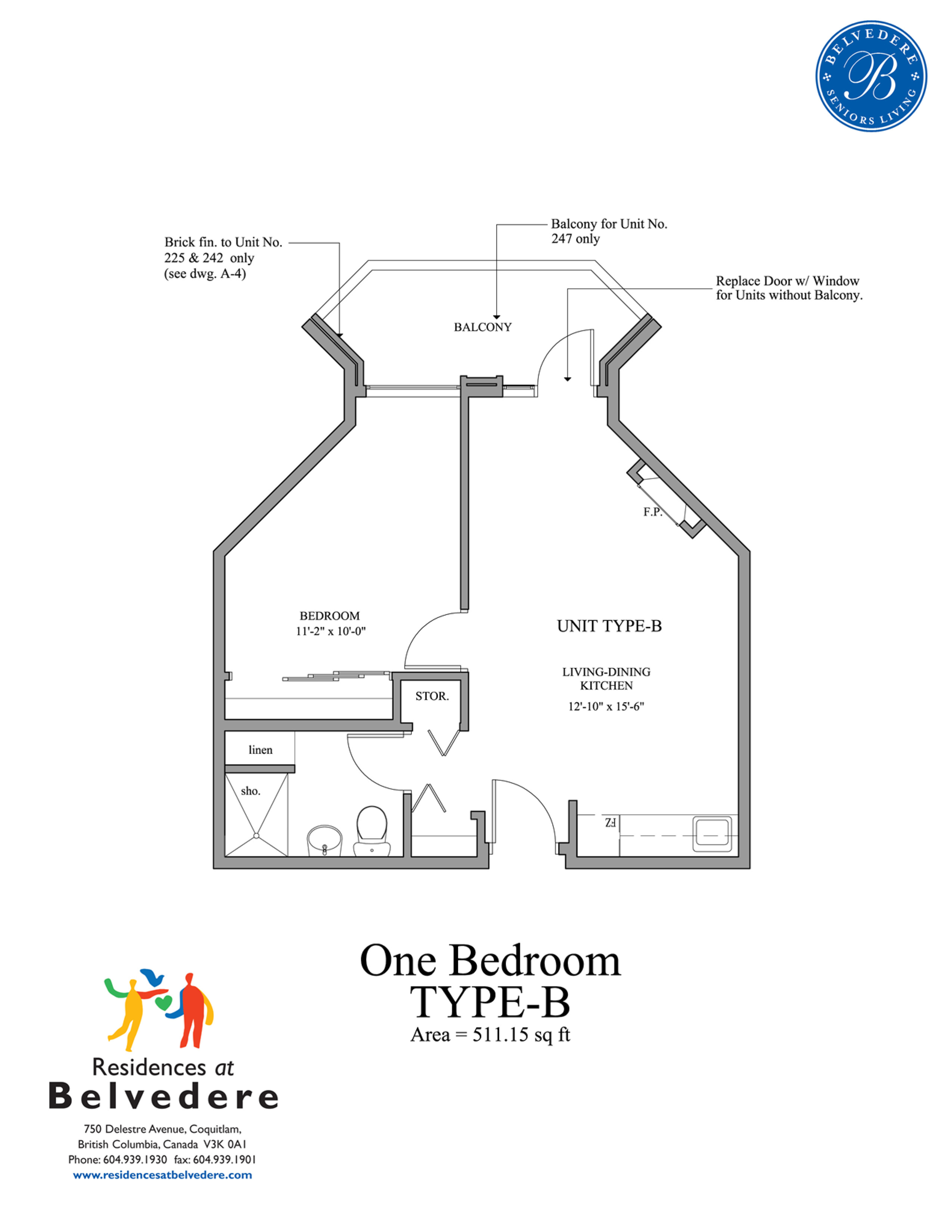 One Bedroom TYPE-B