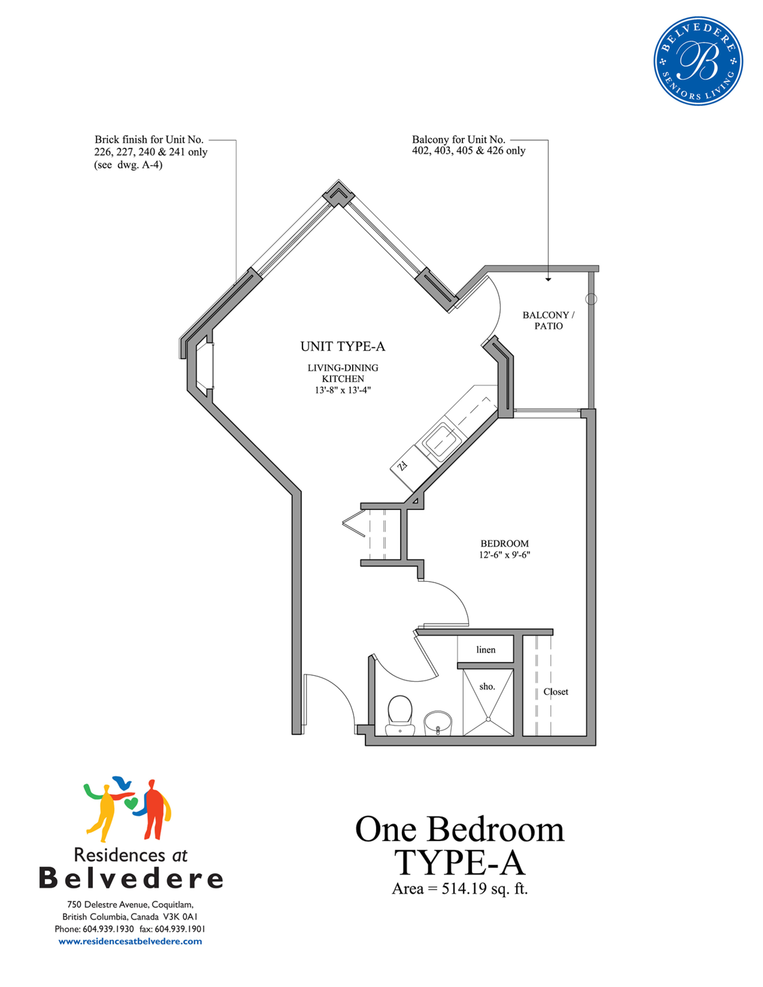 One Bedroom TYPE-A