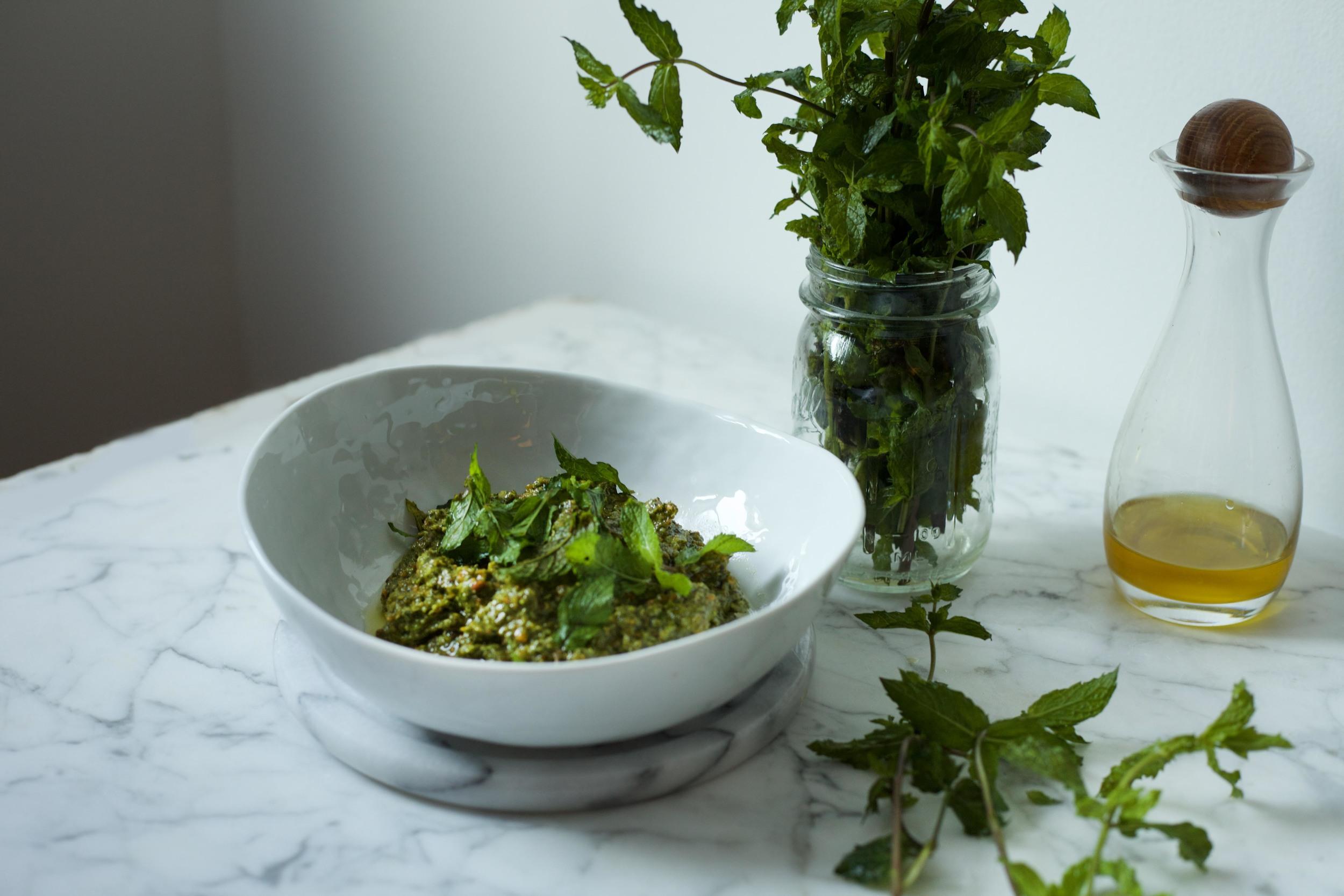 Mint Pesto with Scallion