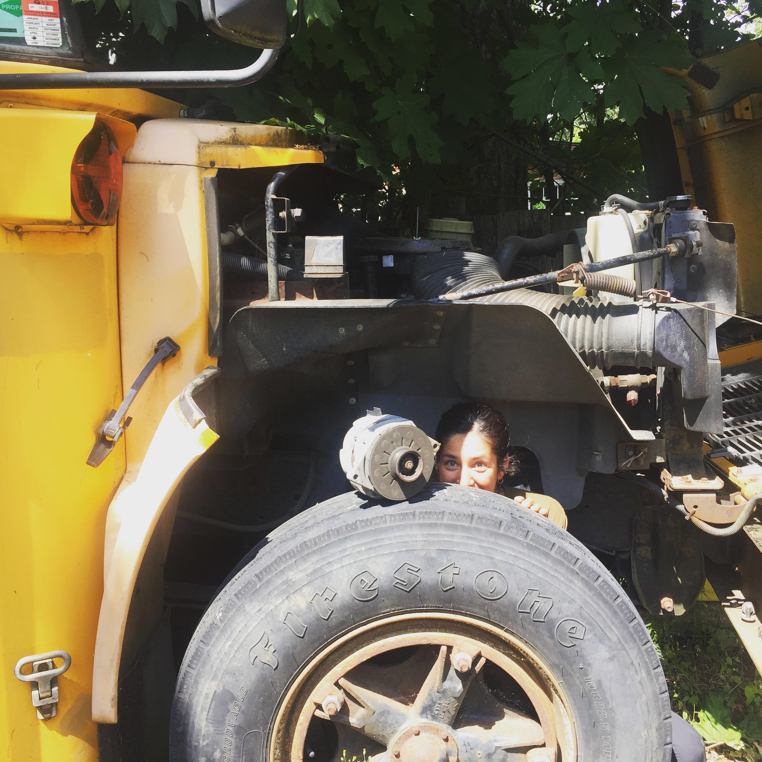 Tia Behind the Wheel - Bus - Tiny Life Supply.JPG
