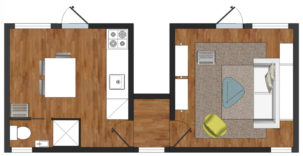 Nomad Cube Connect Floor Plan 2 | Micro Home | Tiny Life Supply.png