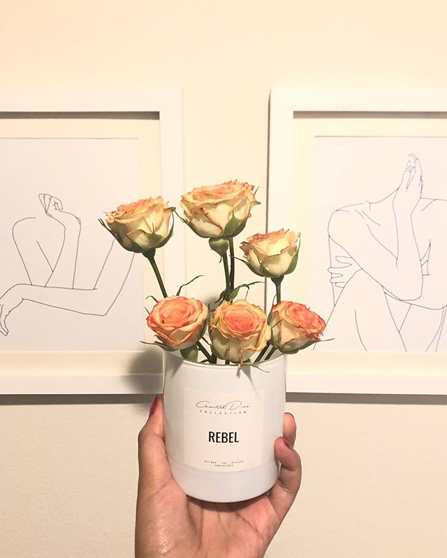 Don't forget to re-use your @chantaldiazco candle jars ✨ sending love and flowers your way 🌸