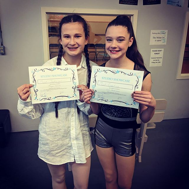 These two just earned scholarships for their work and performances in our student showcase today! Congratulations  ladies! Well done!
