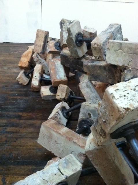 Robert Sebanc Comon Sence detail 2014 Brick and iron pipe 3.JPG
