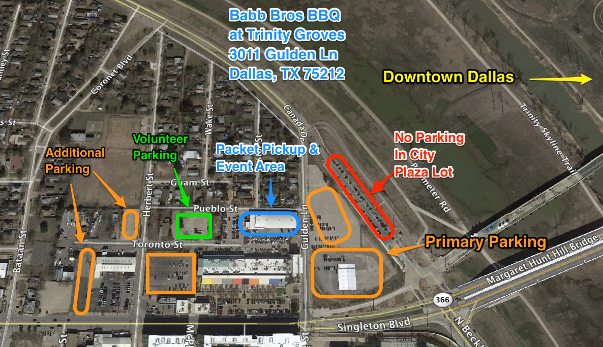 Packet Pickup and Event Day Detail Map