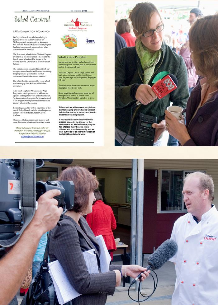 Media coverage of primary school kitchen garden program launch