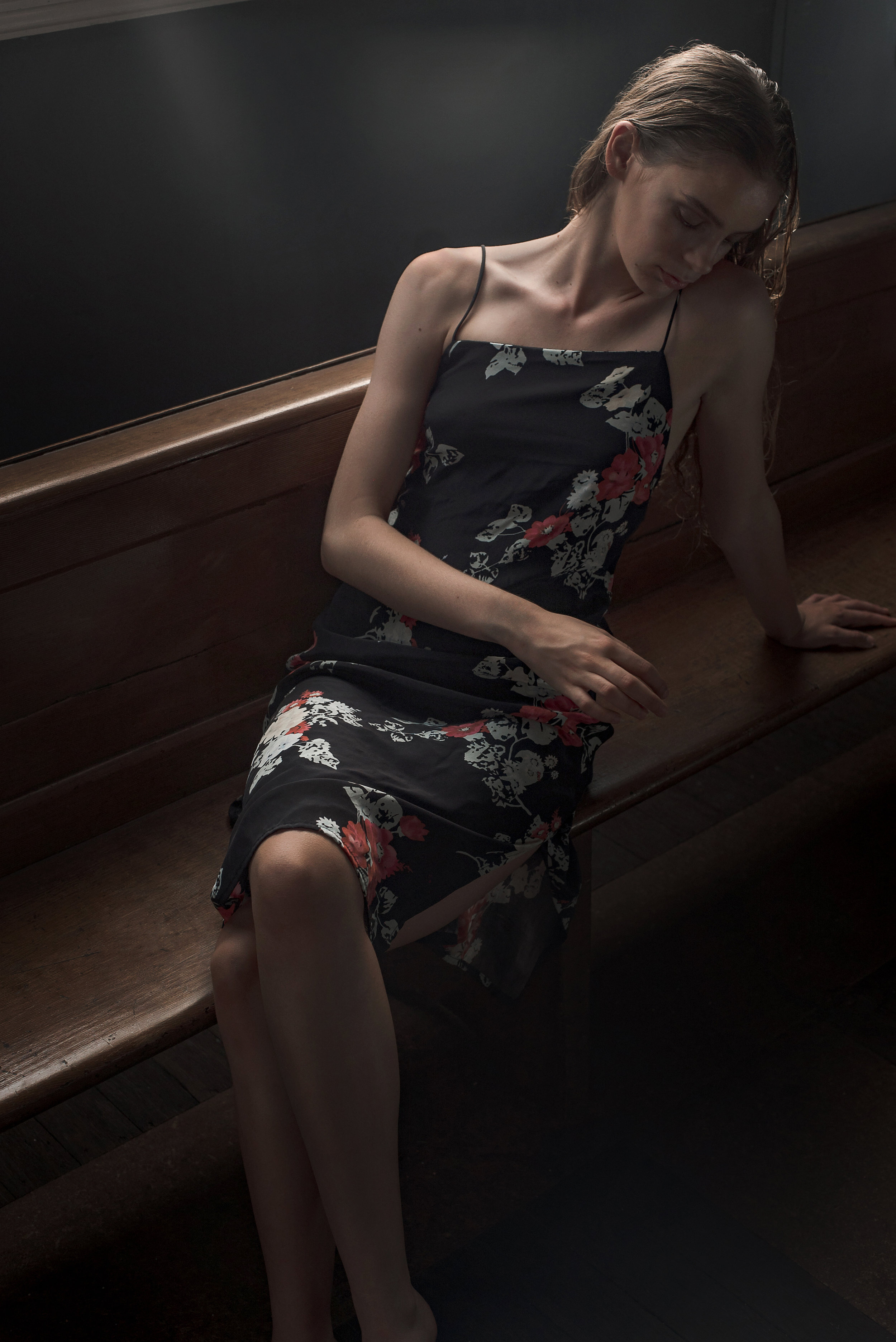 Featured:  Matin: Square Neck Floral Print Dress