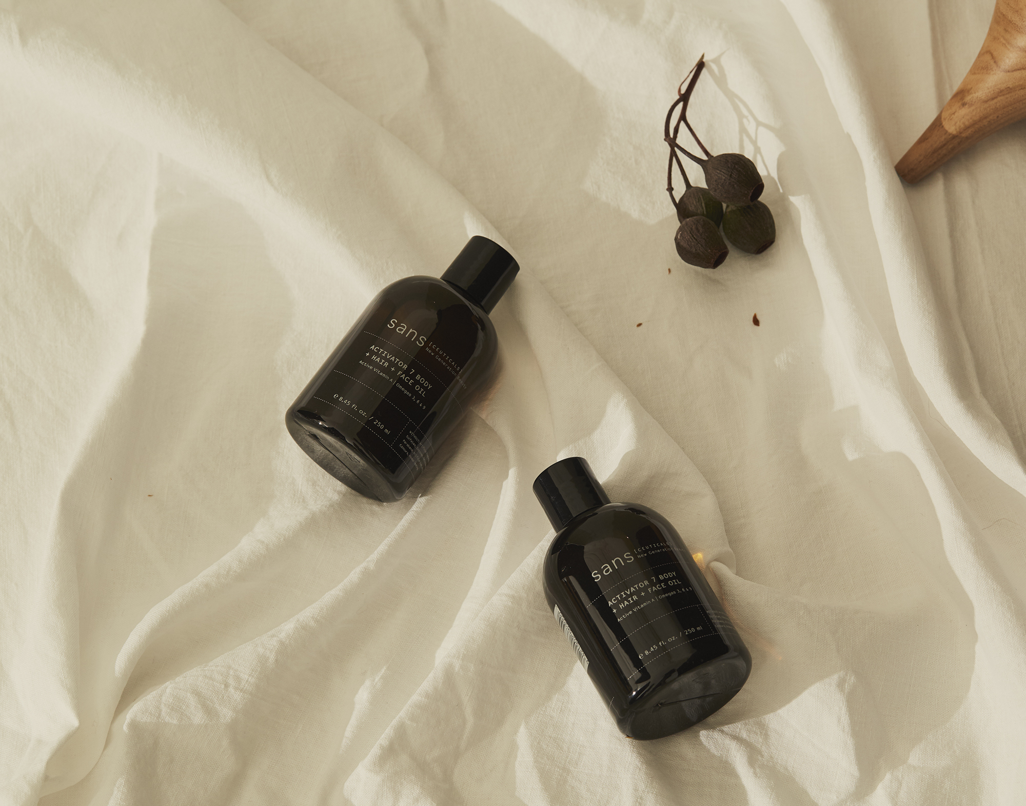 Sans Ceuticals oils to nourish the body and mind.