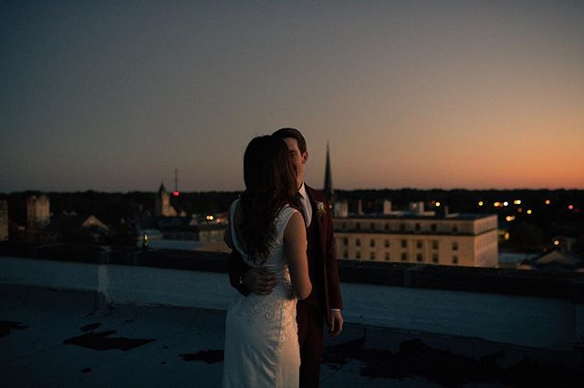 On the roof overlooking the Mississippi River, with the last light of the day on their skin ✨
