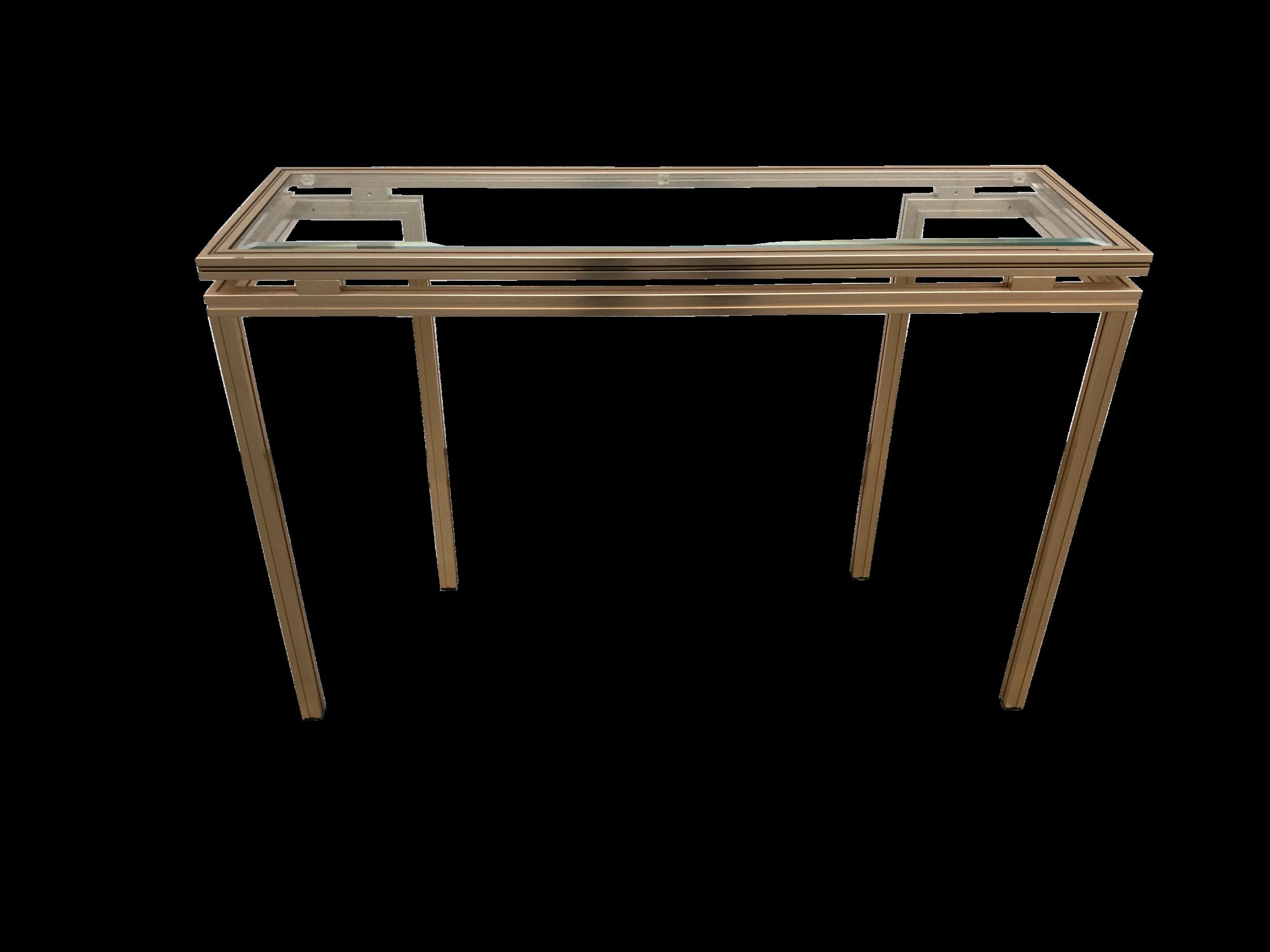 Pierre Vandel Paris Aluminium & Glass Console Table
