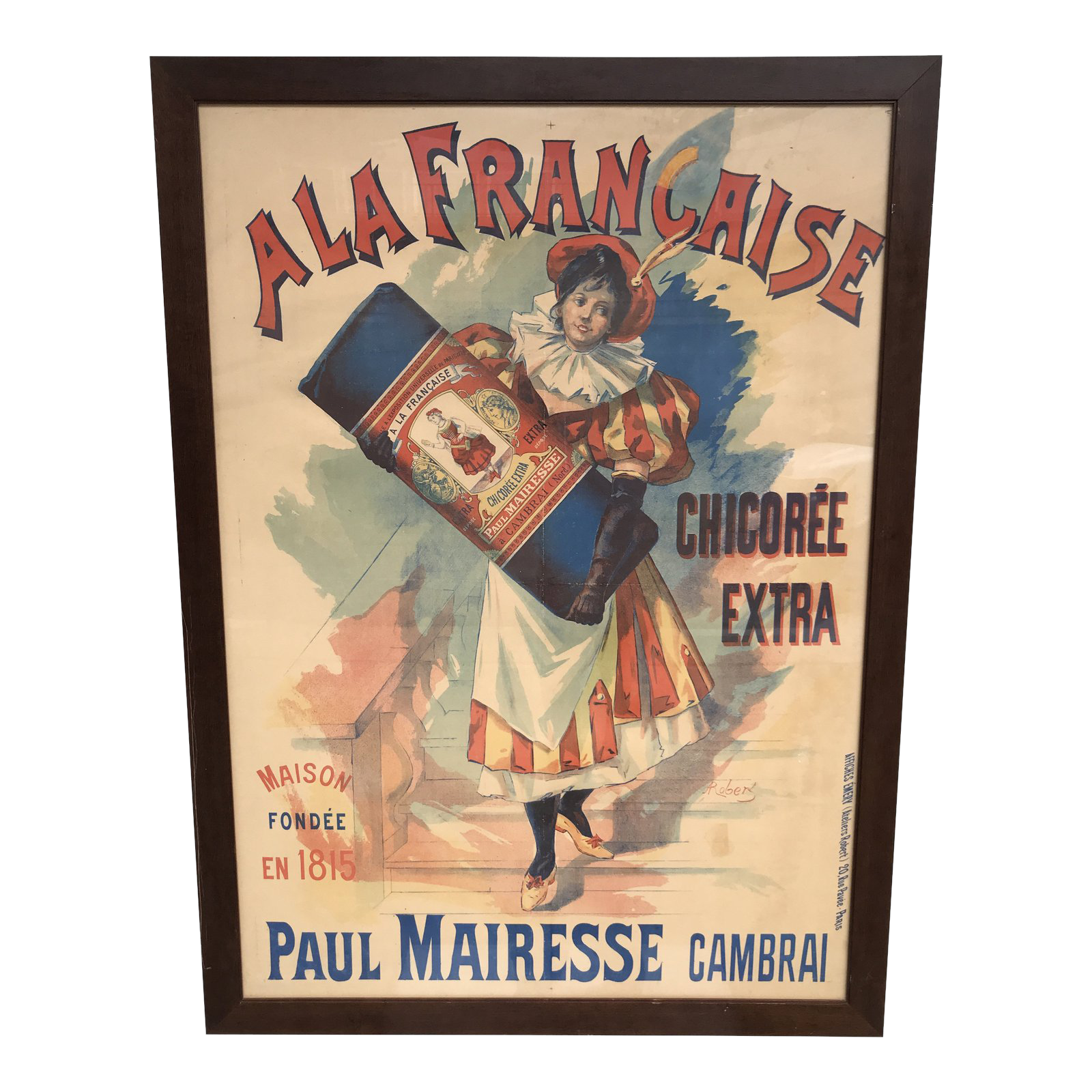 Early 20th Century Antique French Belle Epoque Advertising Poster
