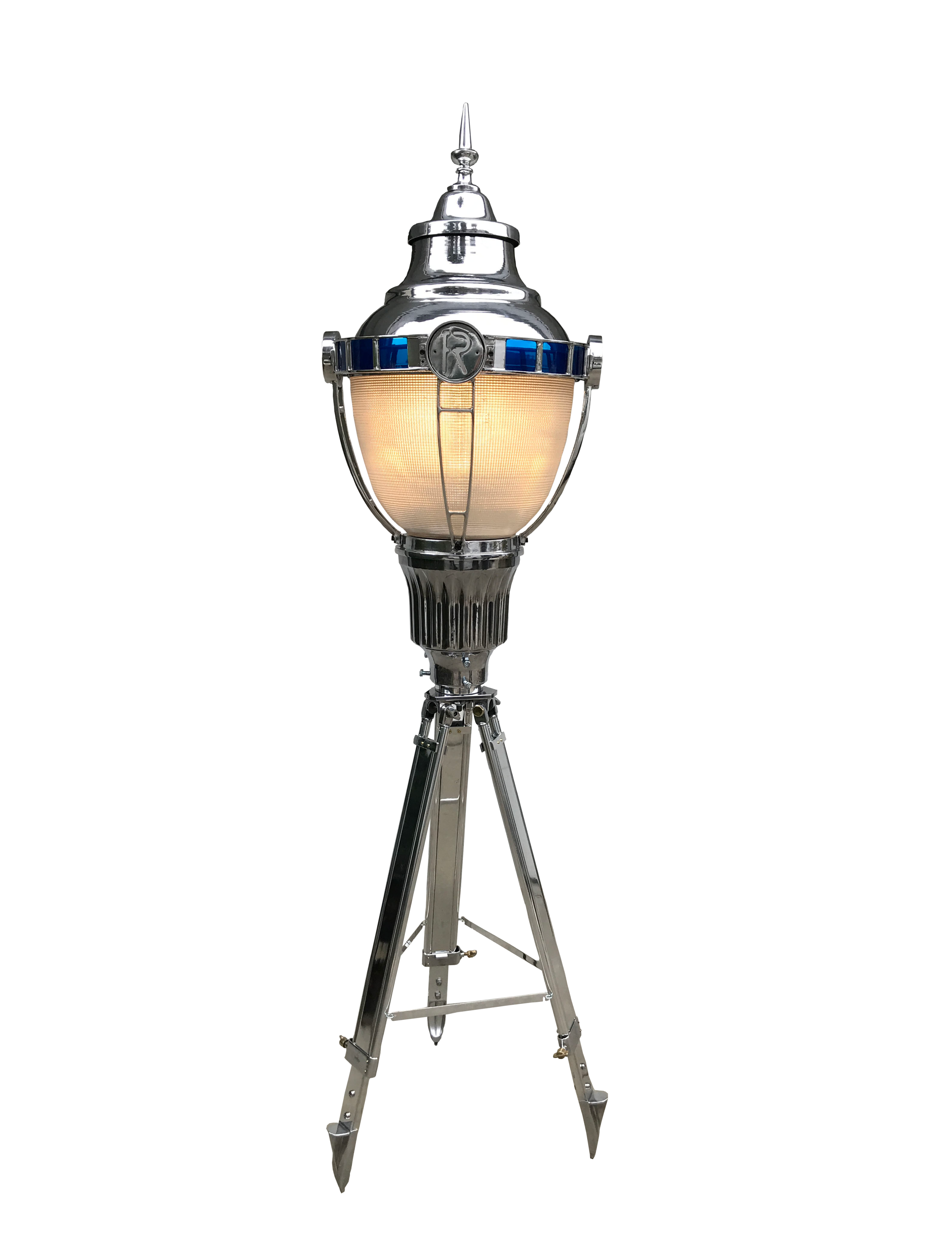 1930s Vintage Cast Aluminum Floor Lamp