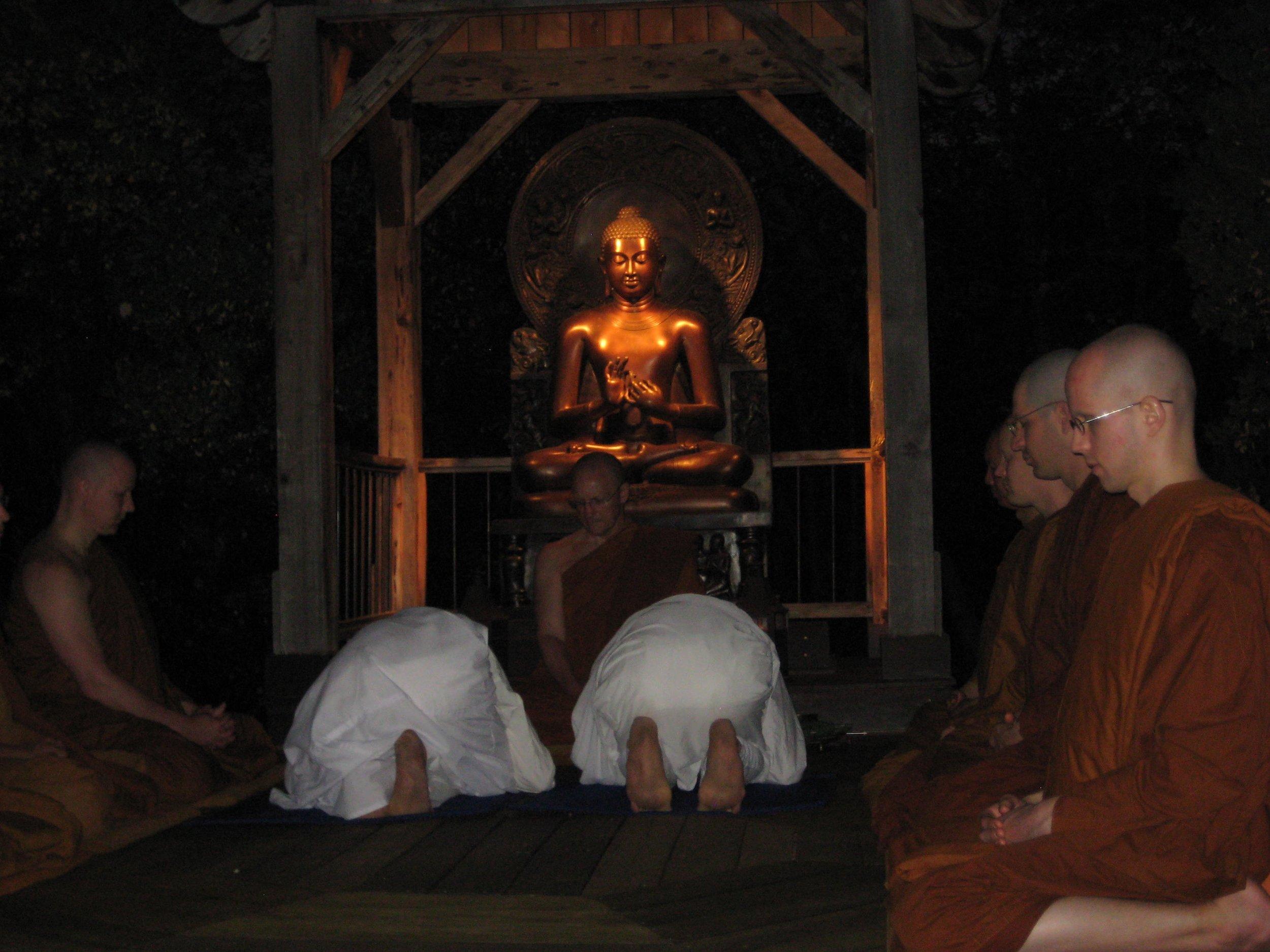 Anagarika  ordination, Abhayagiri Buddhist Monastery August 2011