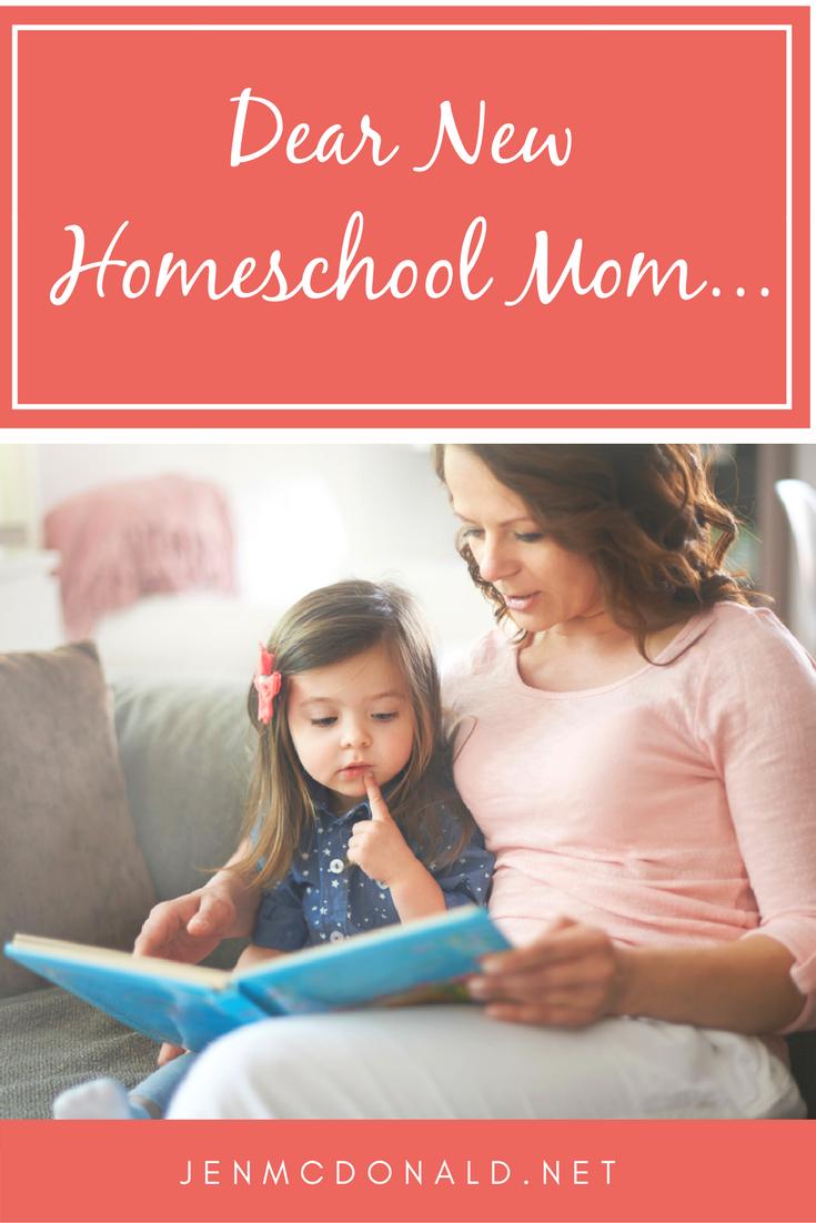 Dear New Homeschool Mom