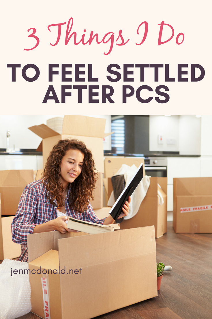3 Things I Do to Feel Settled after PCS