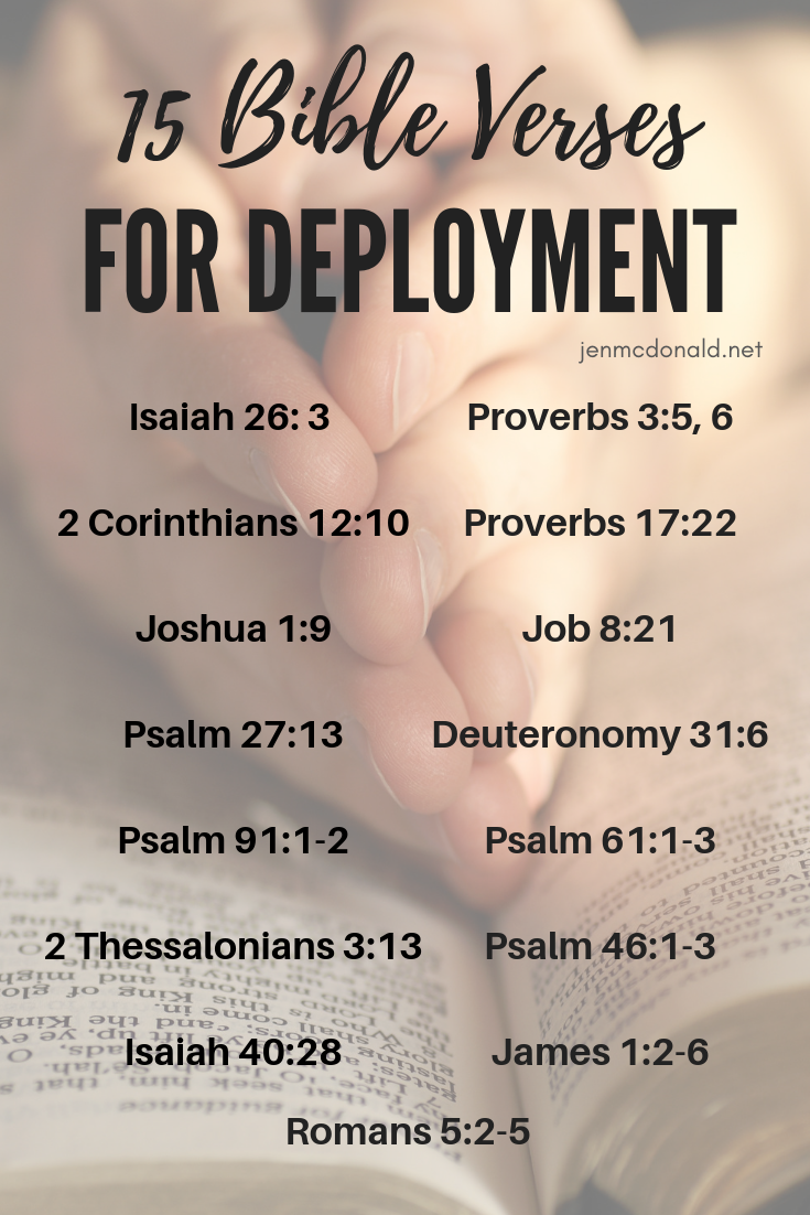 15 Bible Verses for Deployment